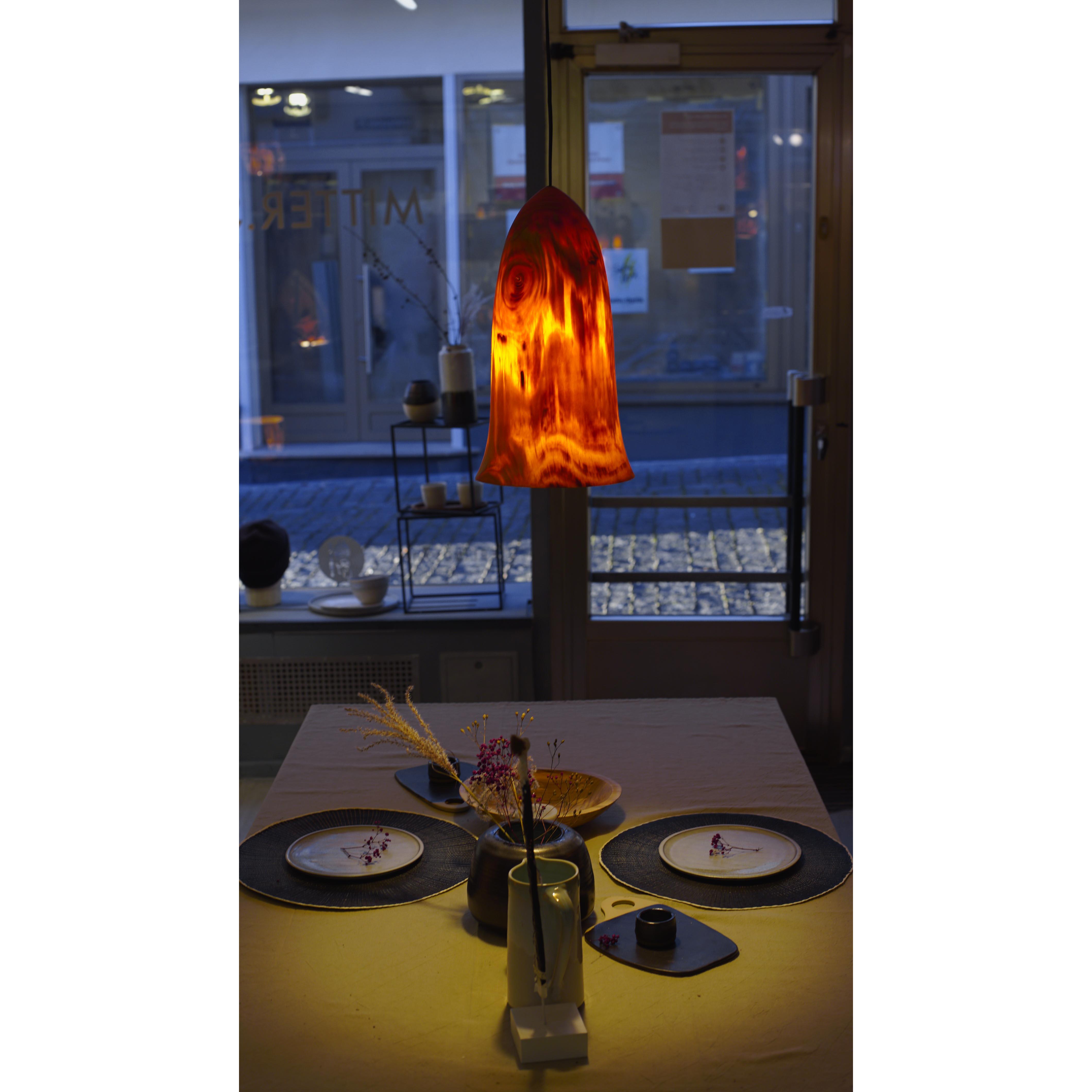 Holzlampe Kiefer Mittel/Klein D21 H38 / Ohne Kabel/Installation HD-L017