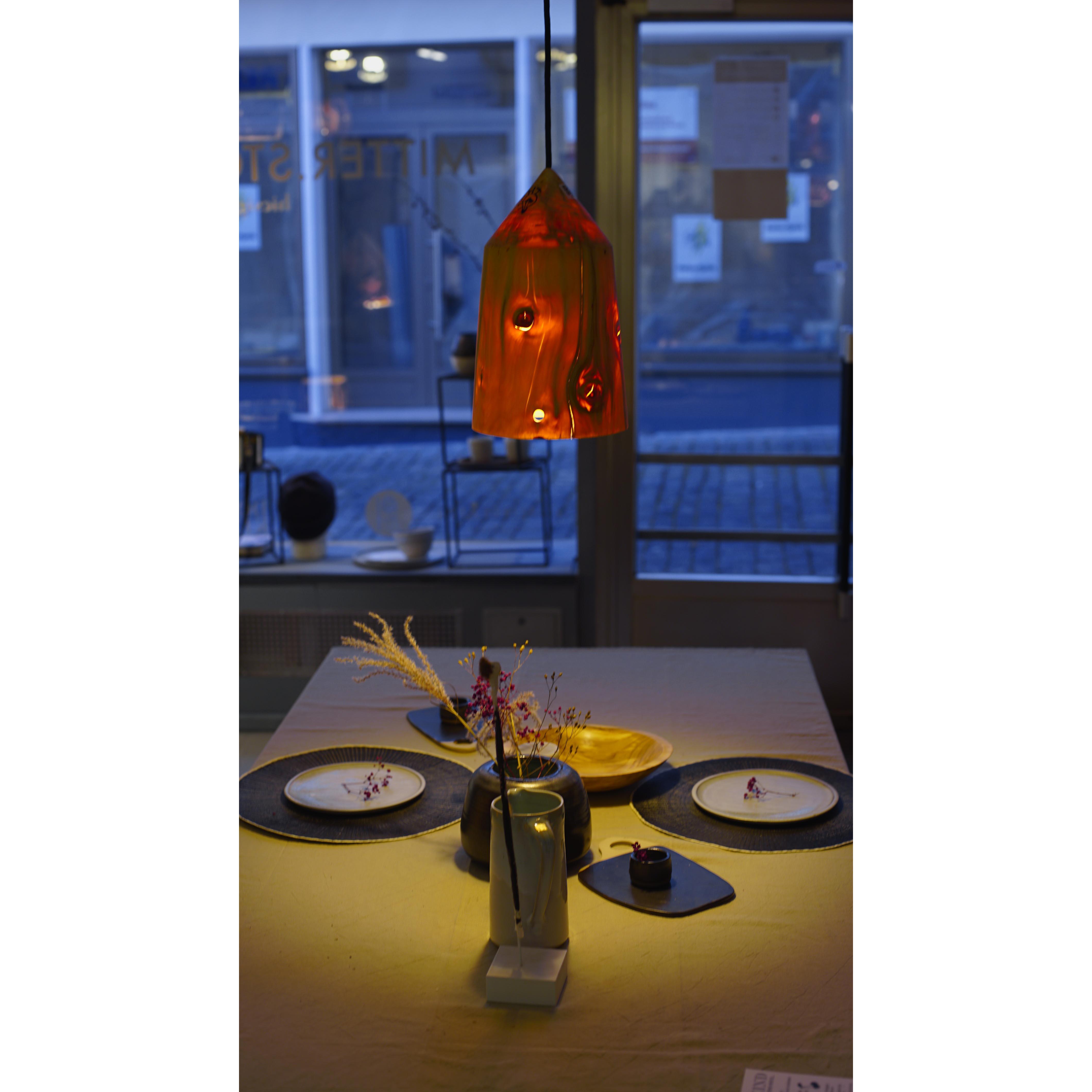Holzlampe Tanne klein D20 H33/ ohne Installation und Leuchtmittel HD-L061