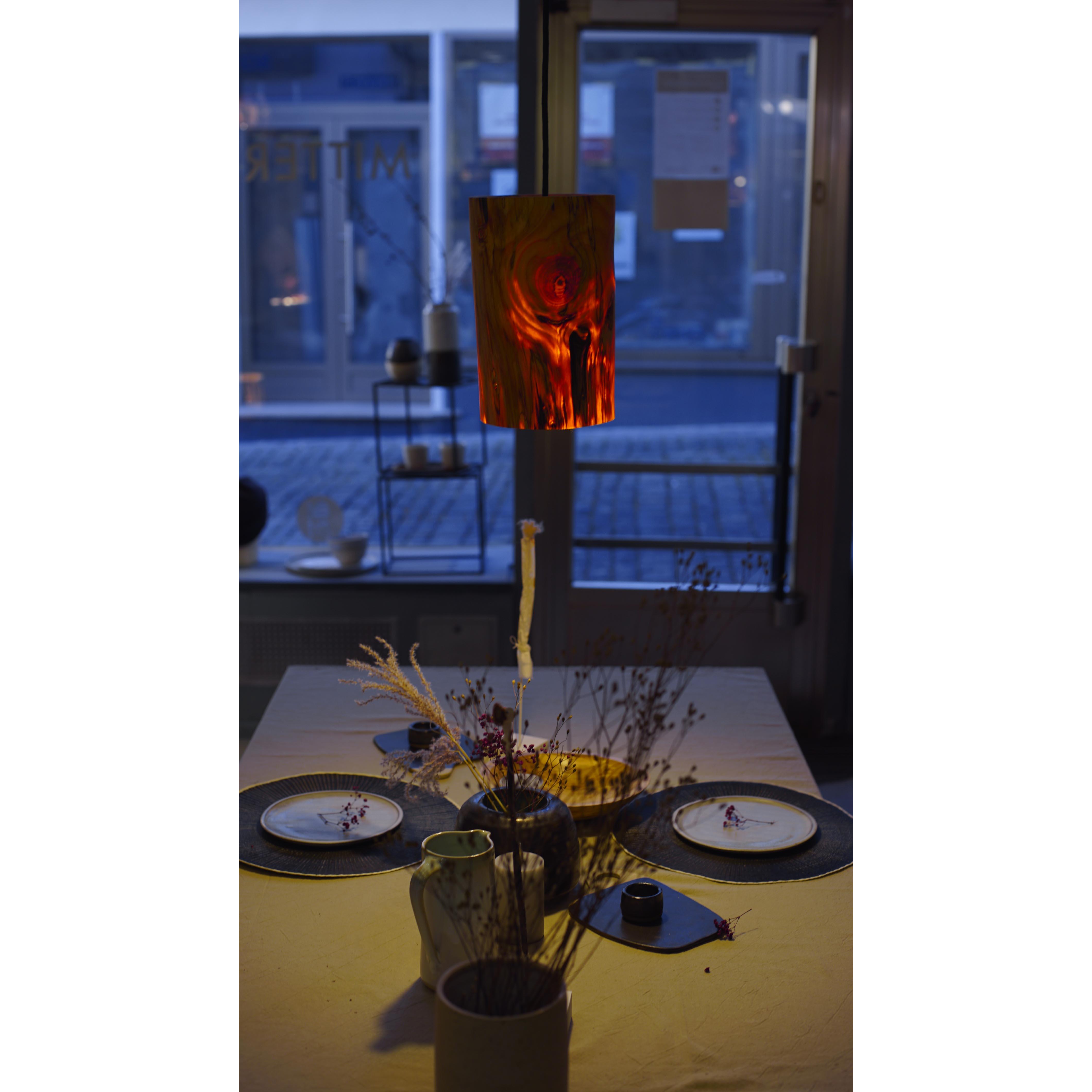 Holzlampe Kiefer mittel D17,5 H28 / ohne Installation und Leuchtmittel HD-L071