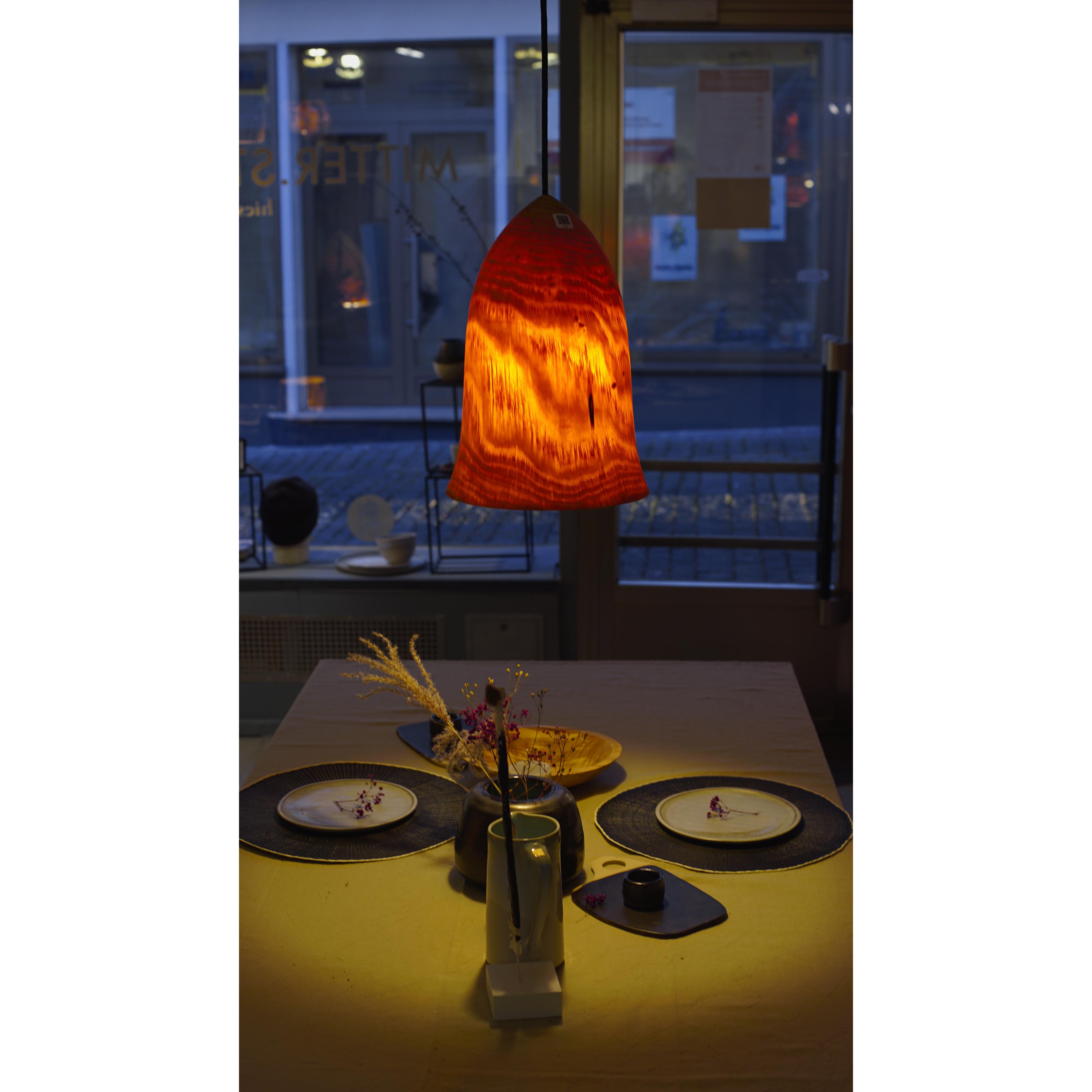 Holzlampe Kiefer mittel D26 H38 / ohne Installation und Leuchtmittel HD-L062
