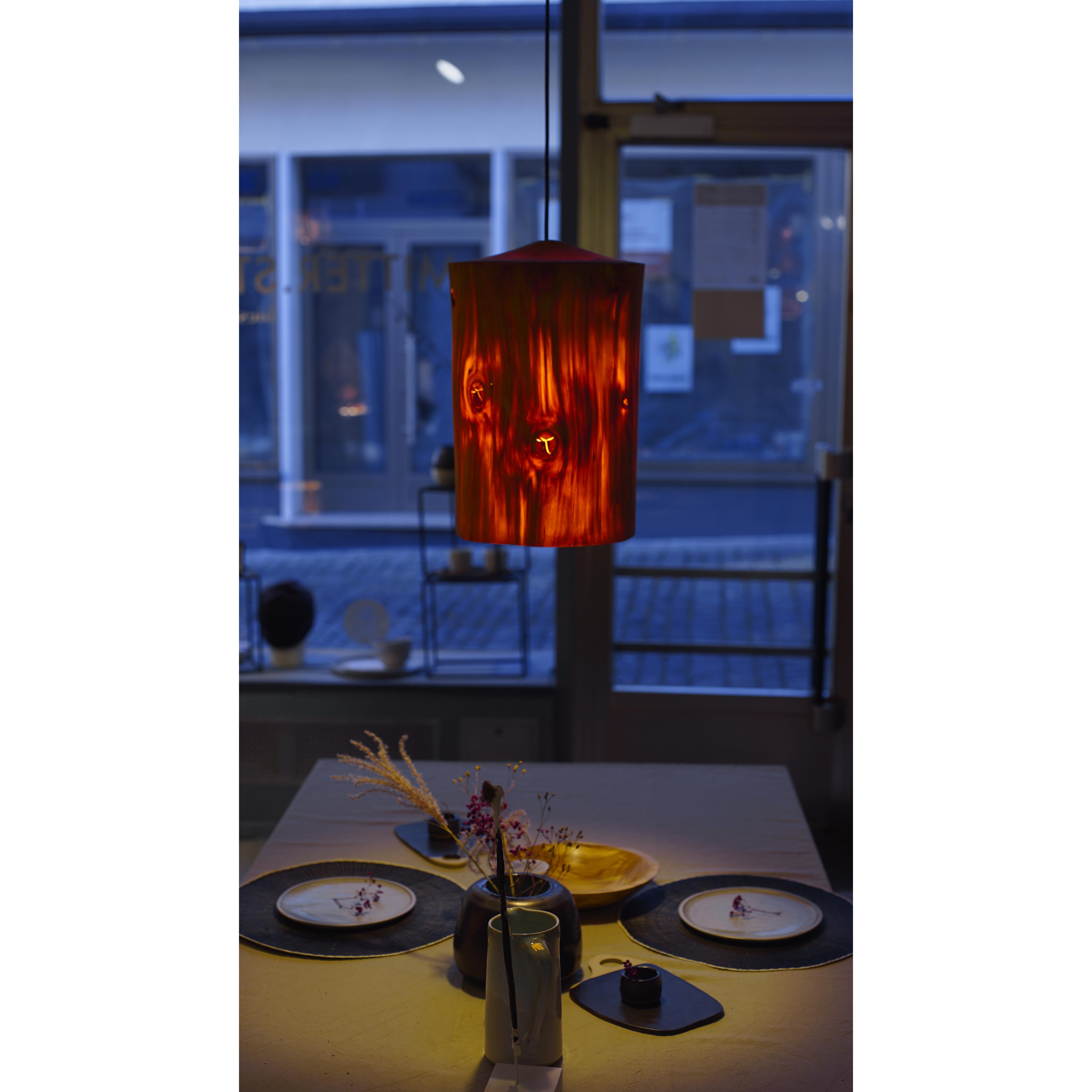 Holzlampe Tanne mittel D25 H35 / ohne Installation und Leuchtmittel HD-L063