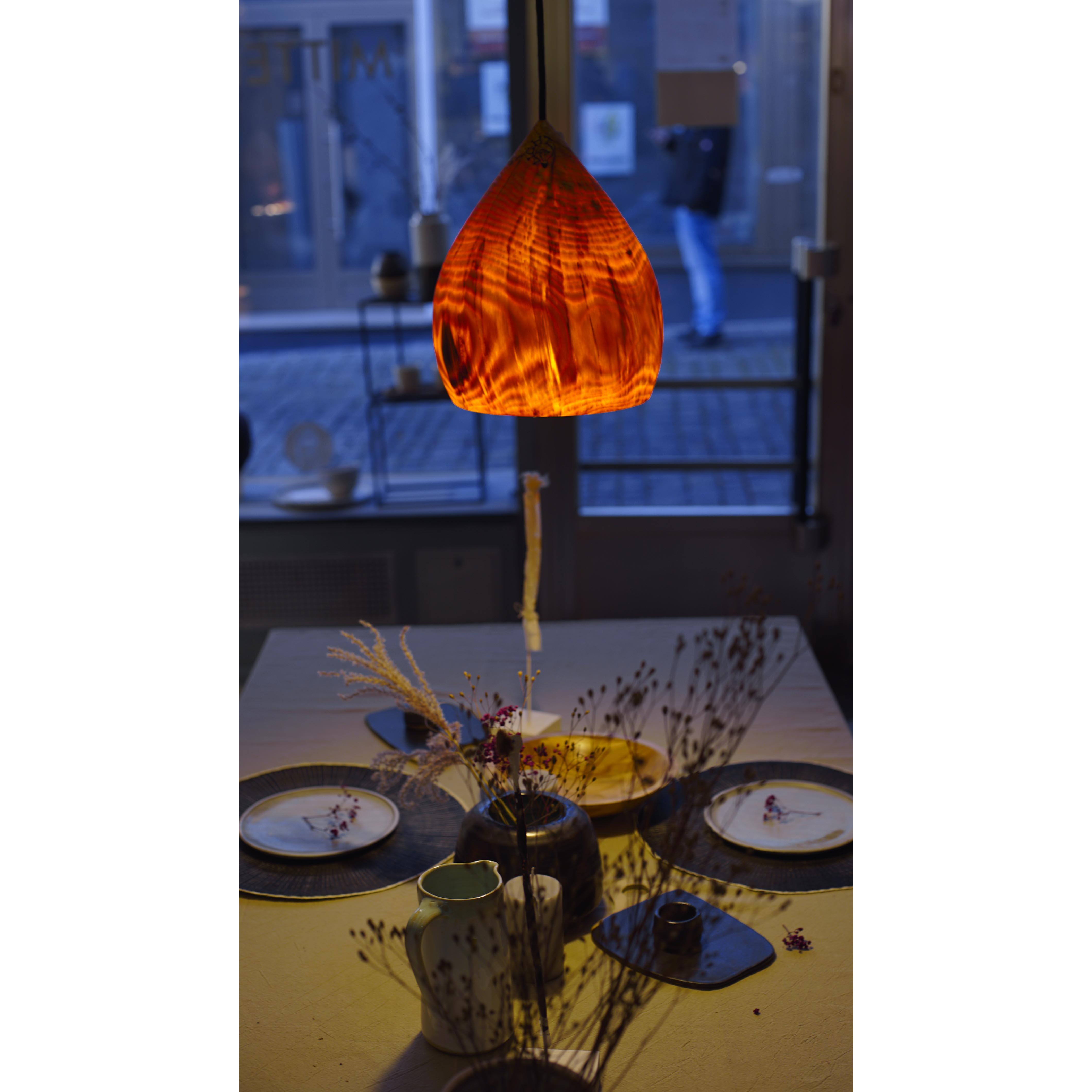 Holzlampe Kiefer mittel D24 H30 / ohne Installation und Leuchtmittel HD-L064