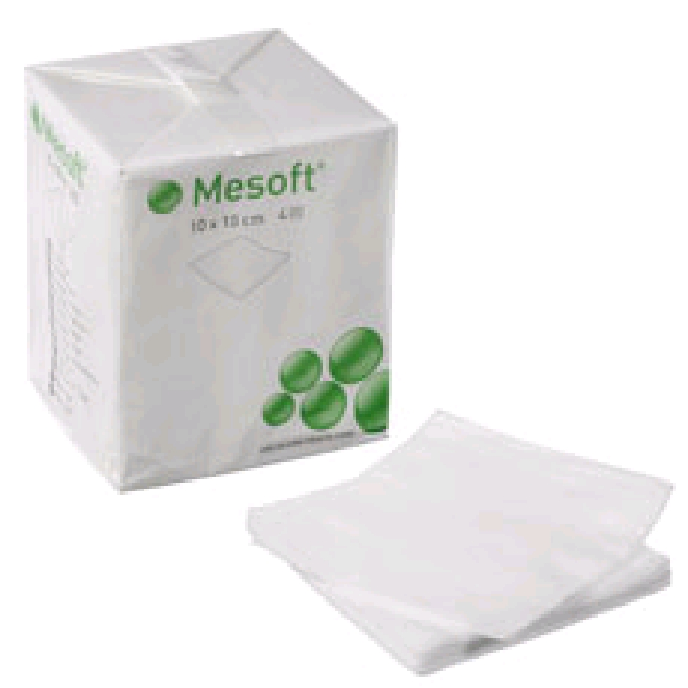 Mesoft non-woven, kompres, brev a 5 stk., steril