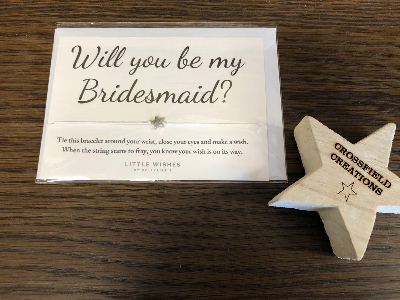 Bridesmaid wish bracelet