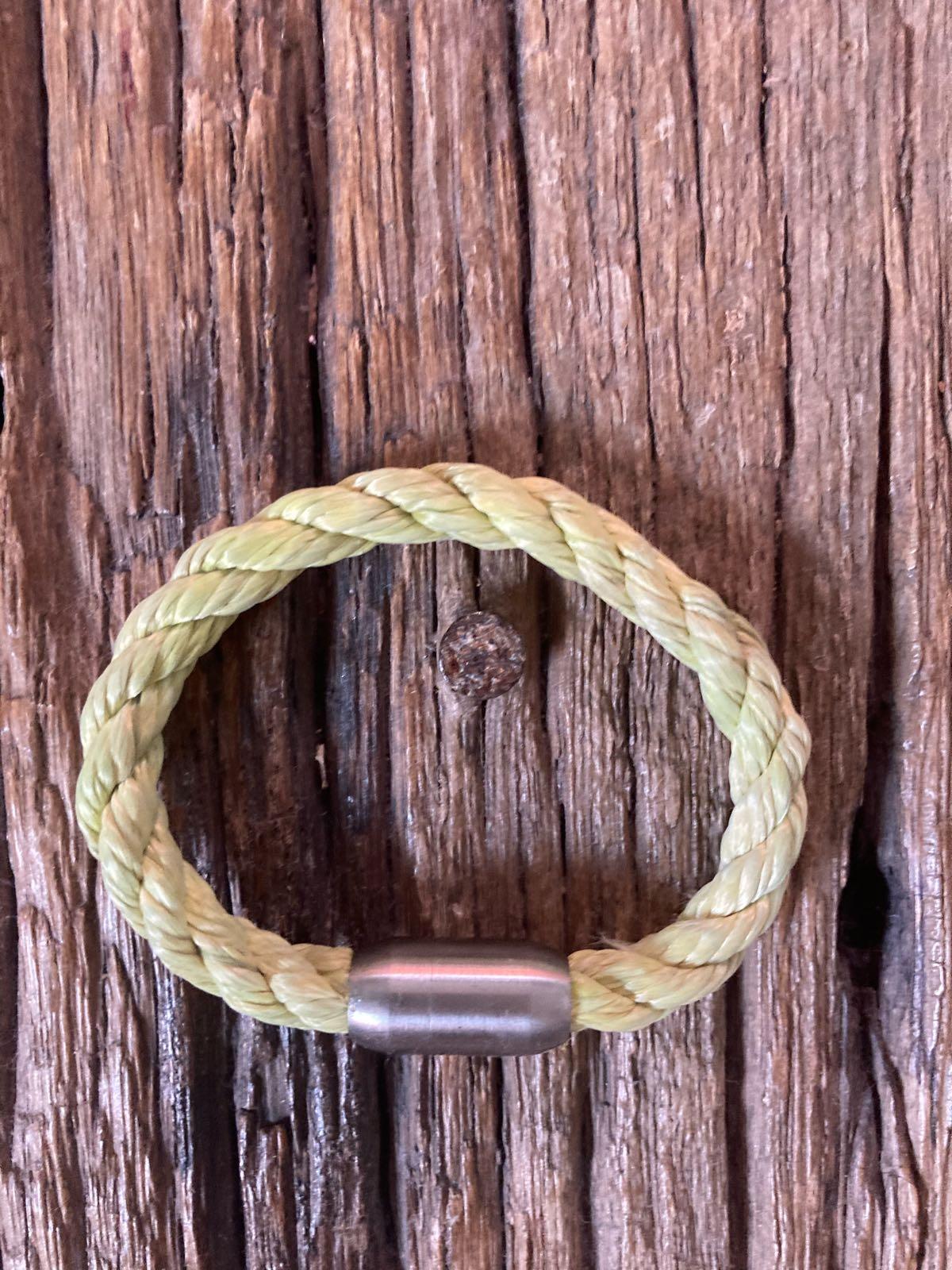 Fischereidesign - Armband grün, 6 mm, silber Edelstahlverschluss