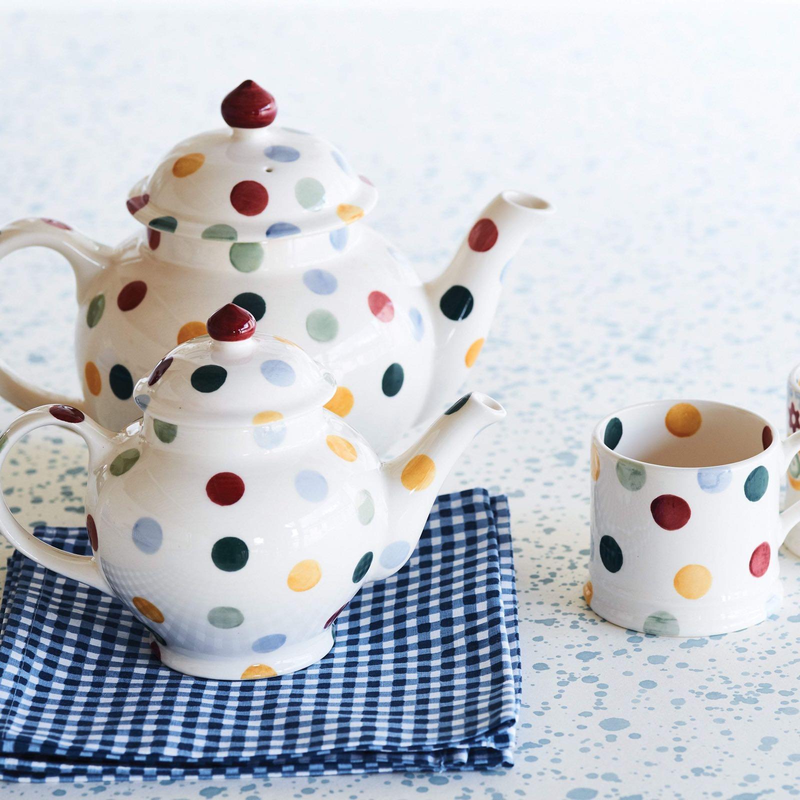 Emma Bridgewater 4 Mug Polka Dot Teapot Boxed