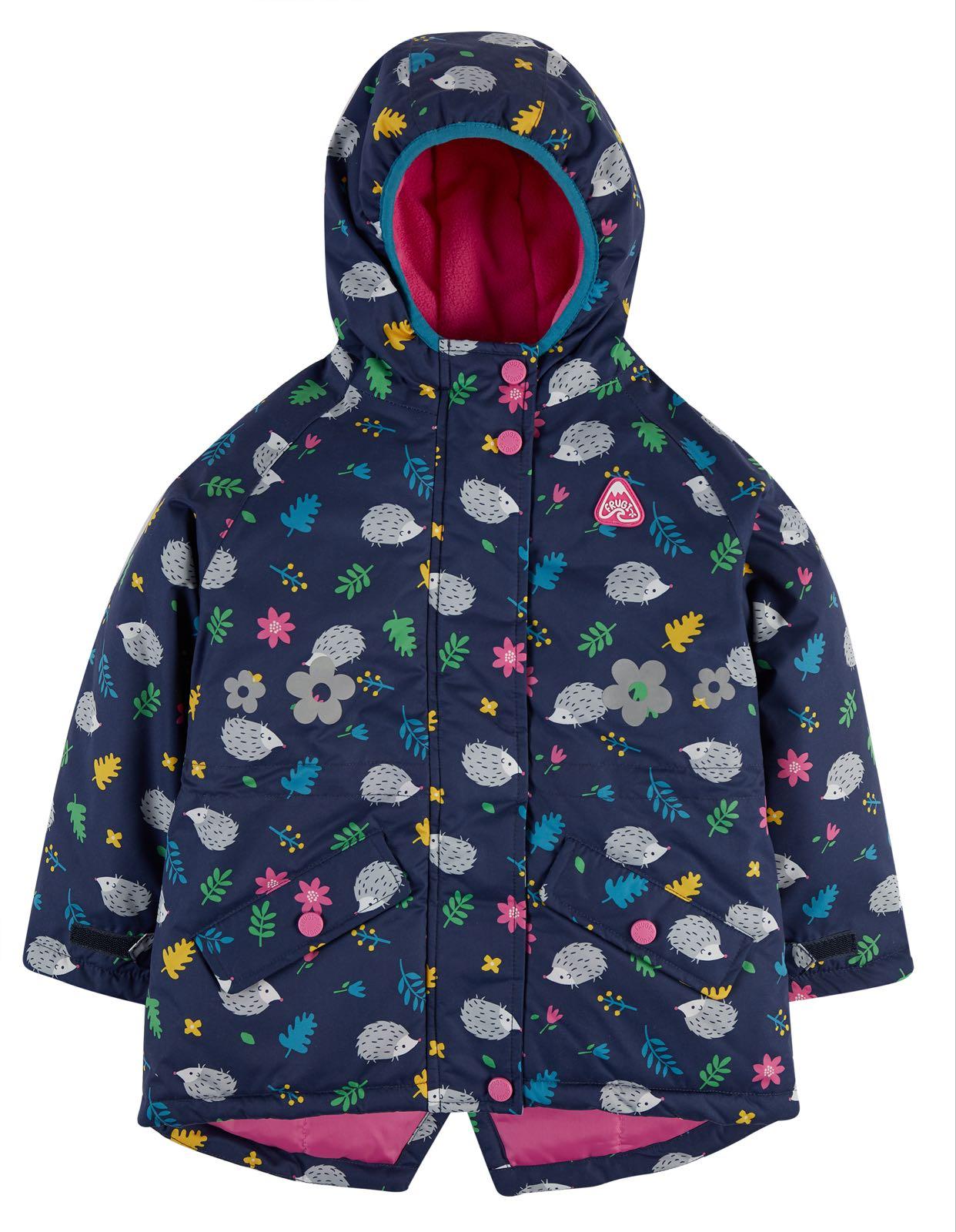 Frugi Explorer Waterproof Coat, Hedgehogs
