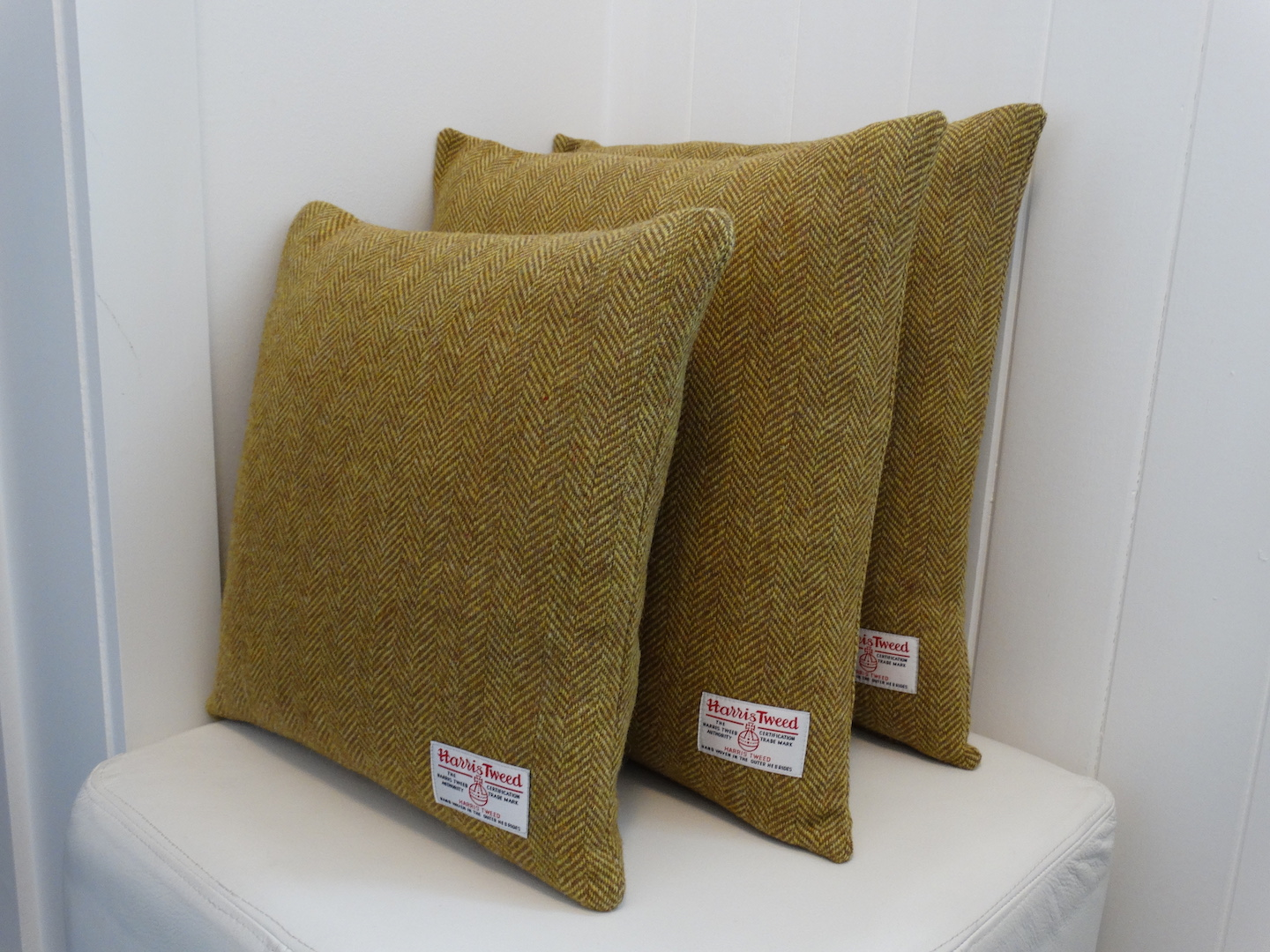 Black (Jet 01) Cushion Cover in 12 Herringbone HARRIS TWEED®