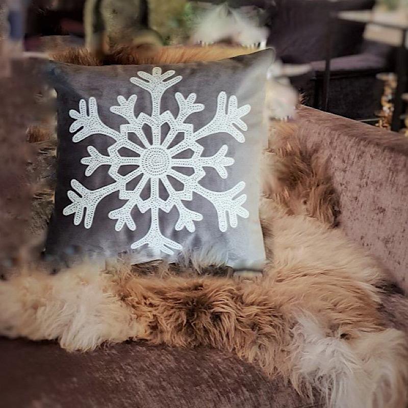 Kuddfodral stor snöflinga