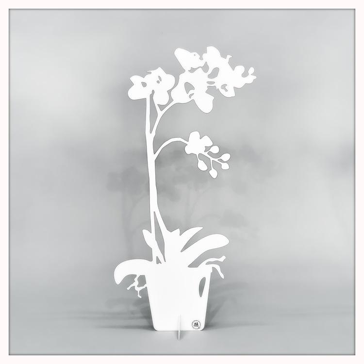 Orkidé i plåt