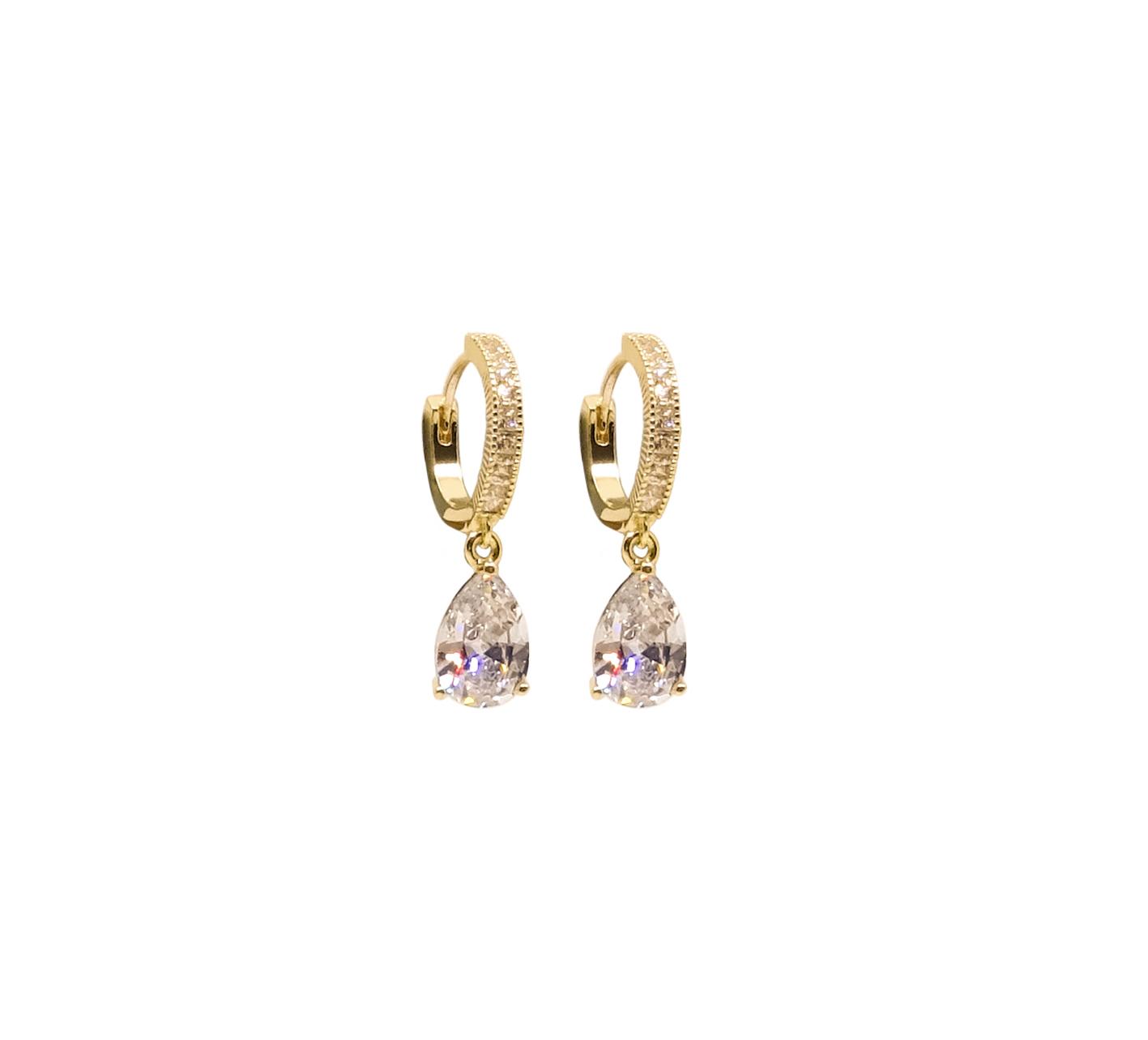 Örhänge ring med stenhänge