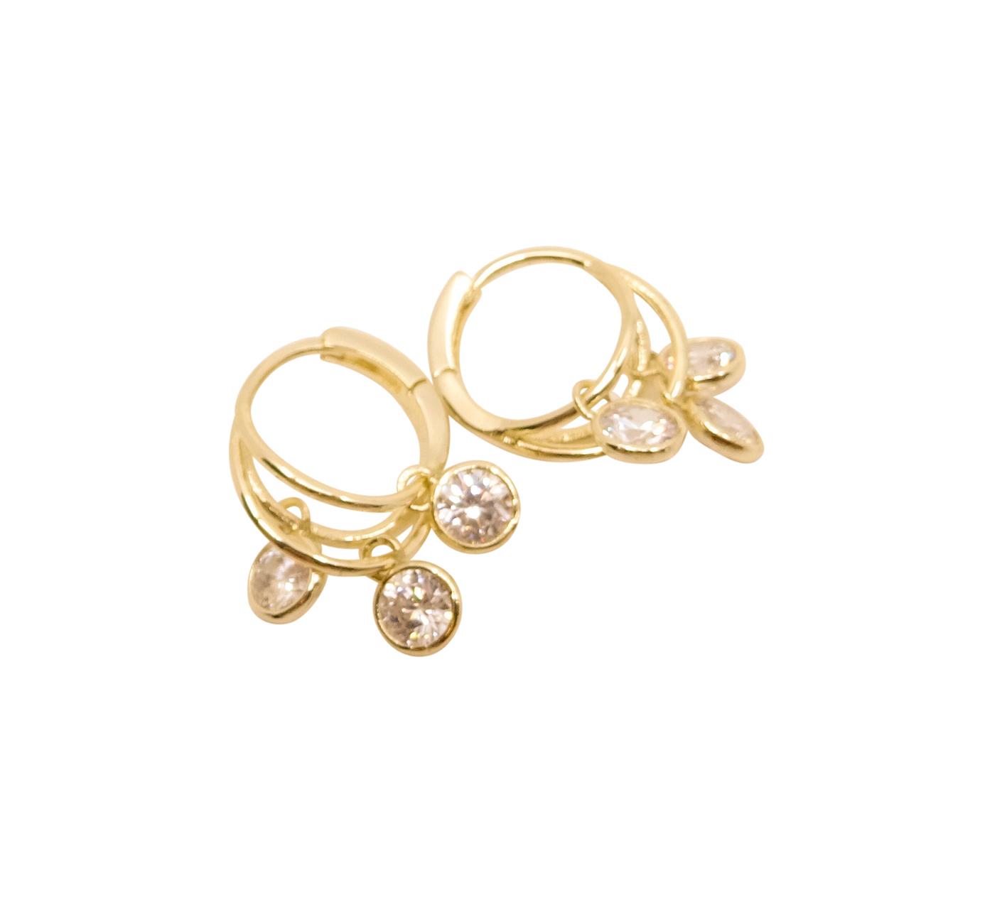Örhänge tre ringar