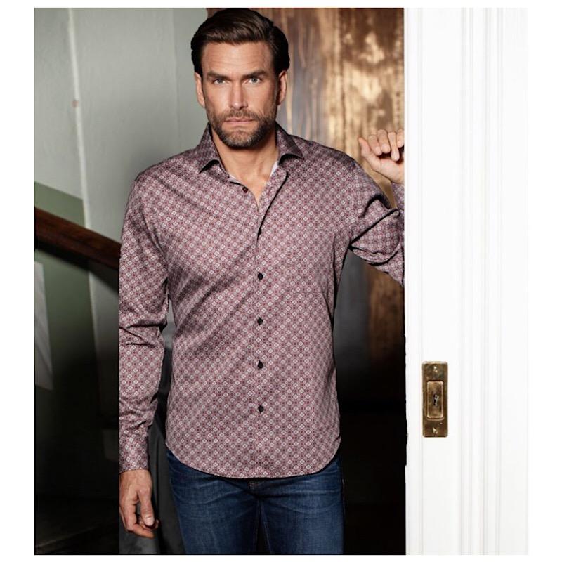 Kvardrat-Cirkelmönstrad skjorta