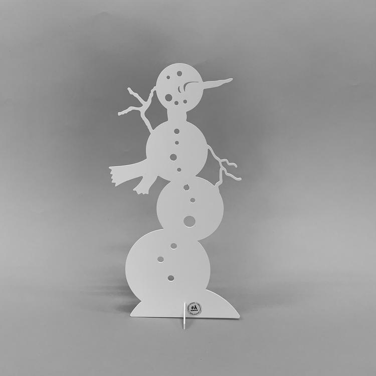 Snögubbe i plåt