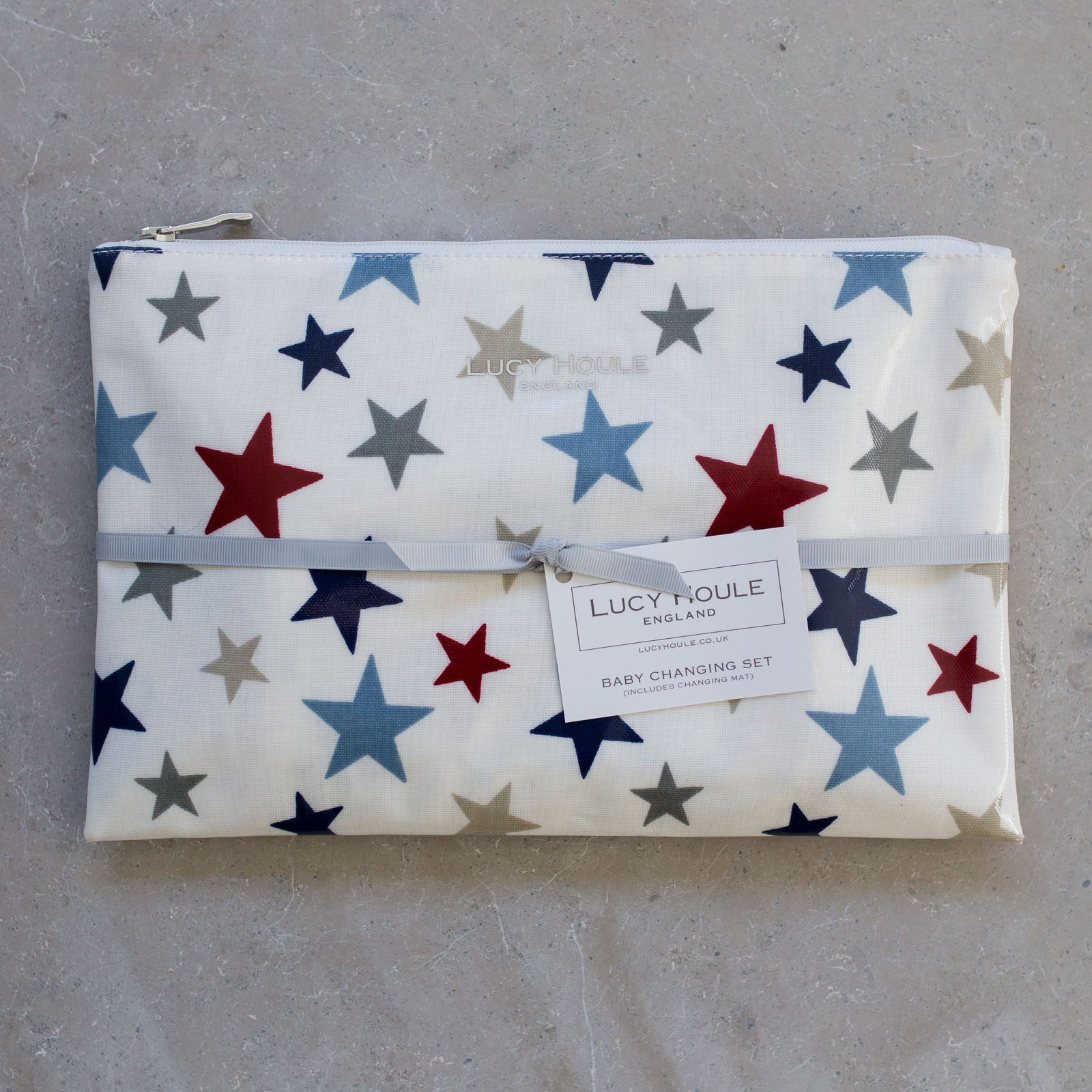 New England Star Blue Baby Changing Set