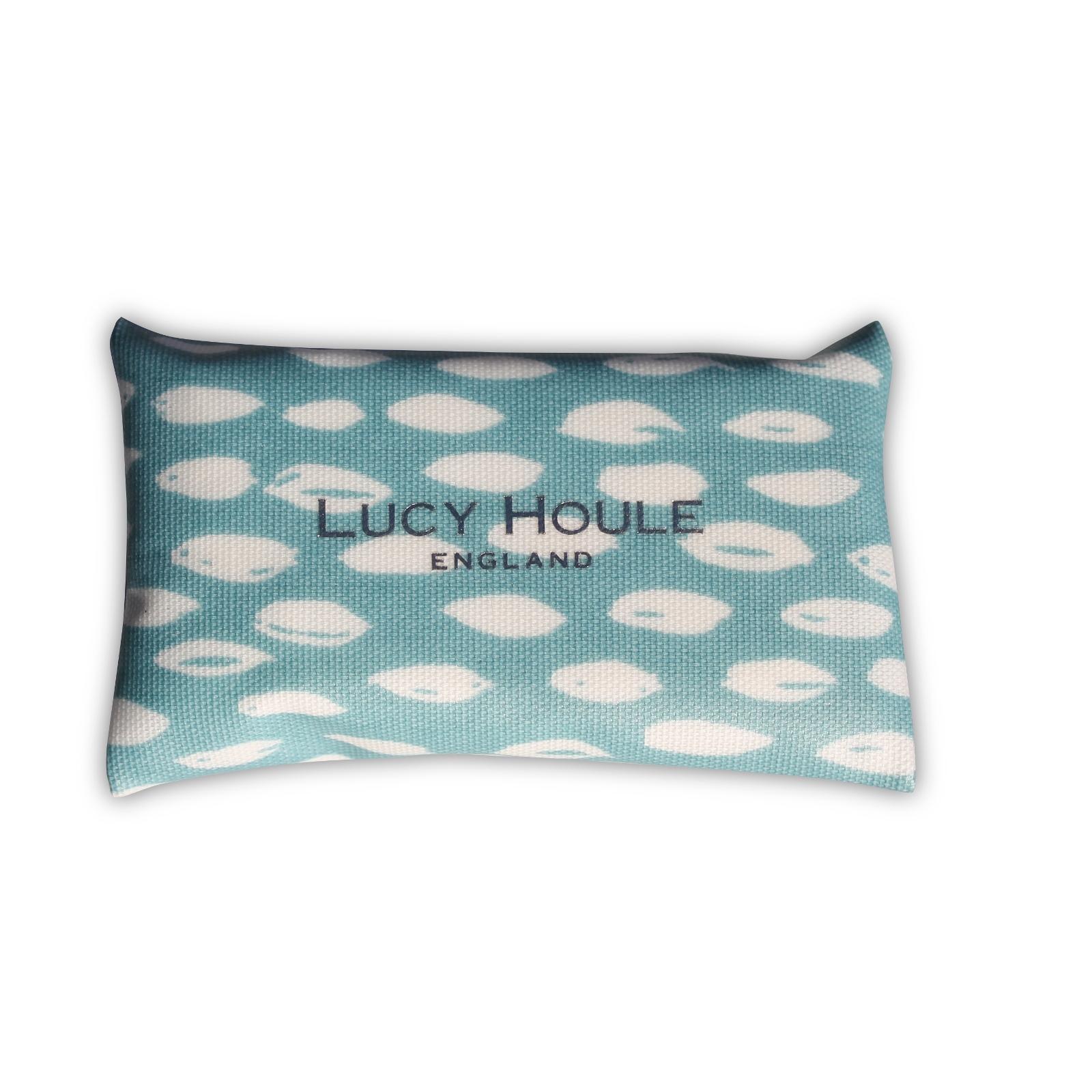 Aqua Feather Pocket Tissue Holder