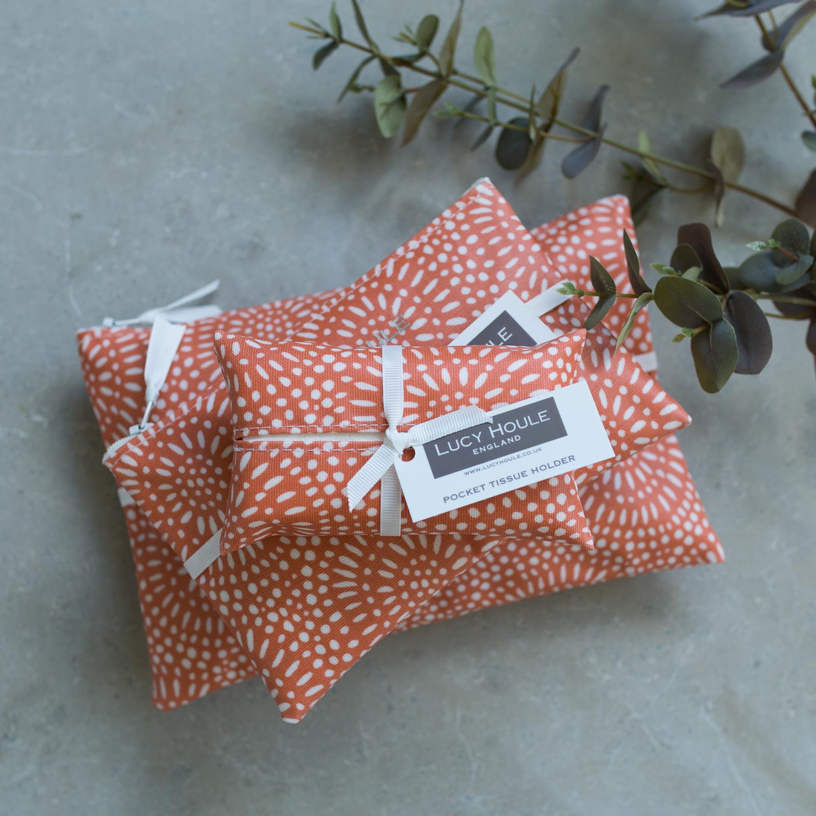 Amber Sunburst Make-Up Bag with White Zip
