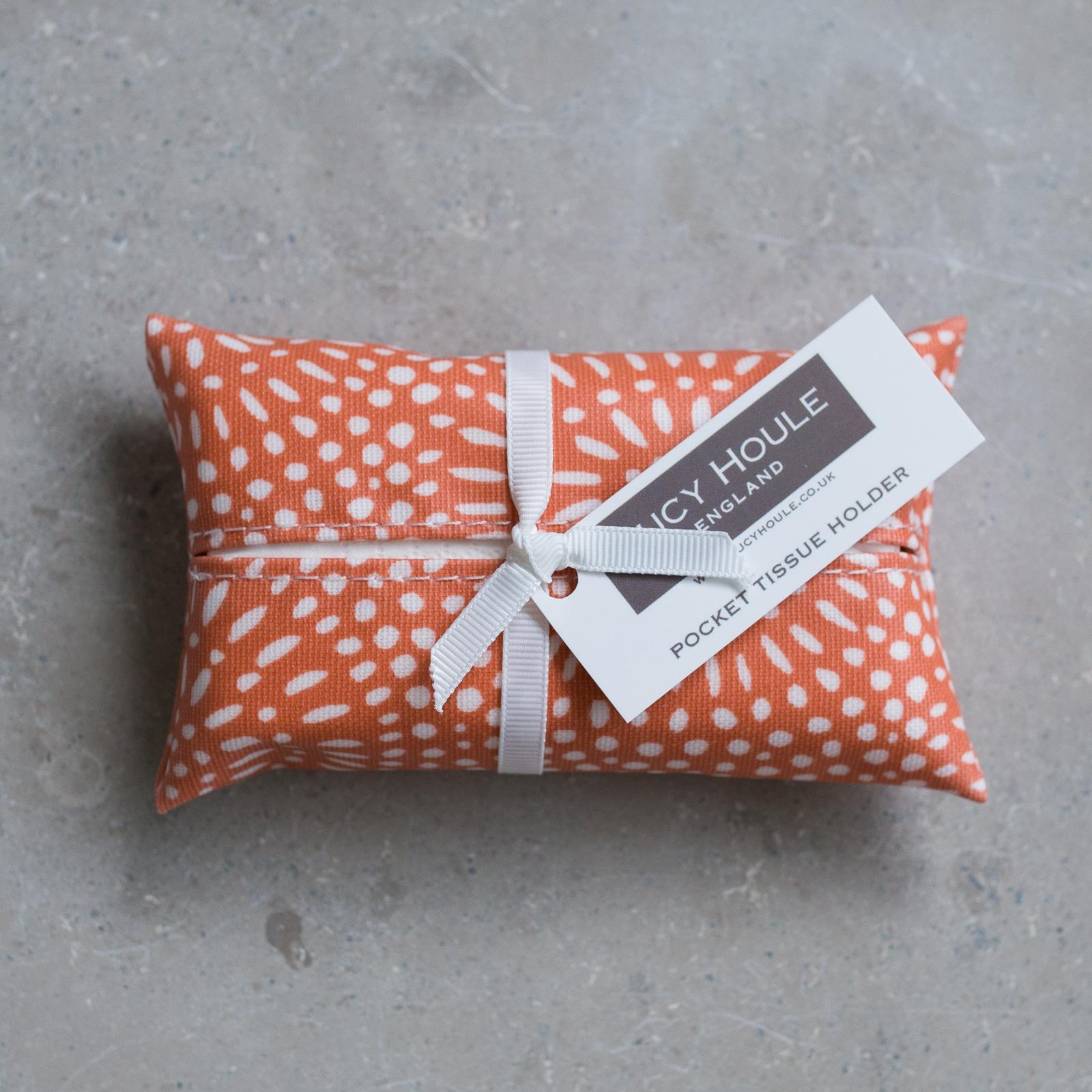 Amber Sunburst Pocket Tissue Holder White