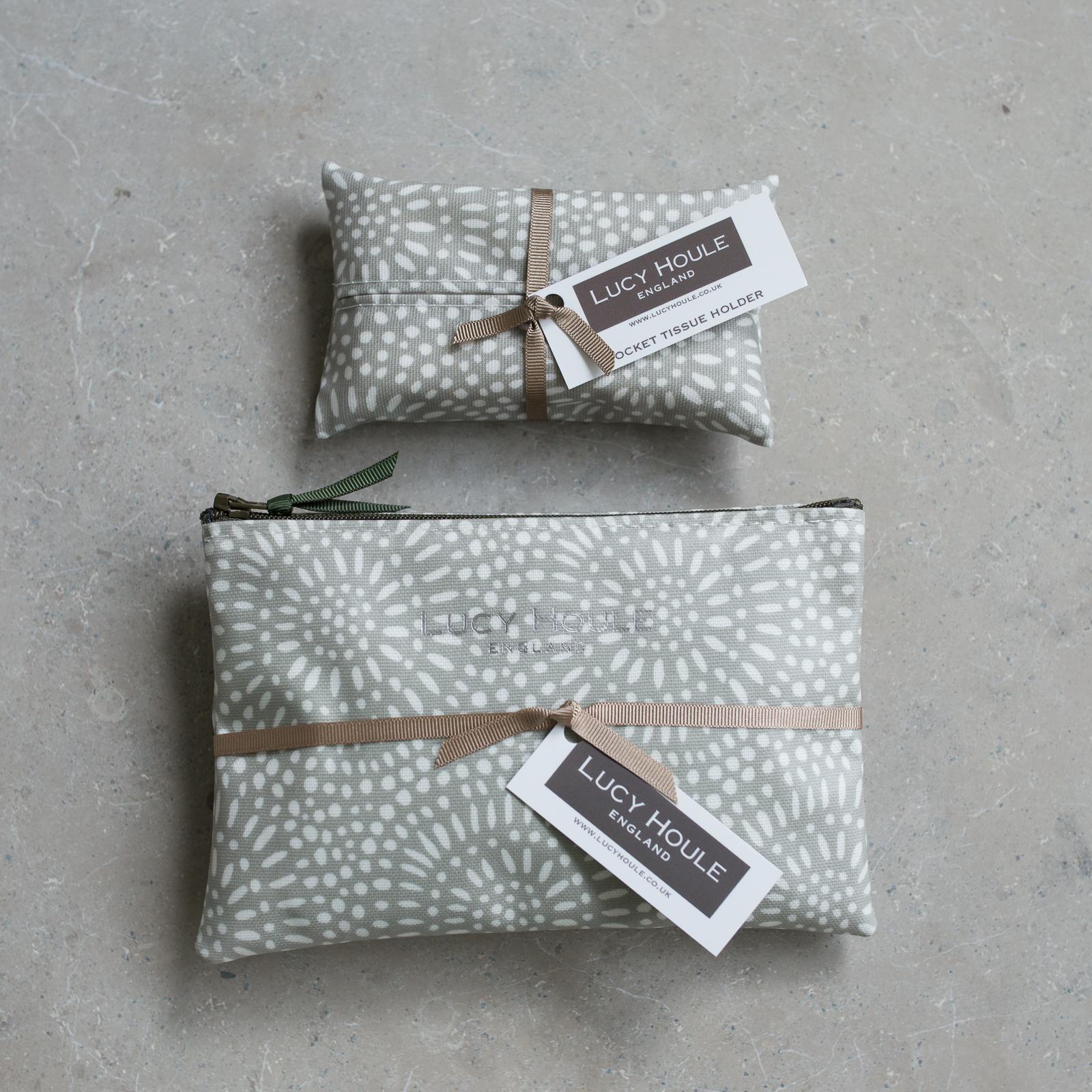 Stone Sunburst  Handbag Set Khaki Zip