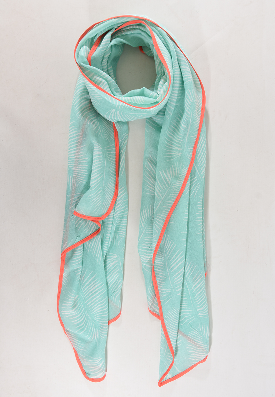 Mint Coral Scarf
