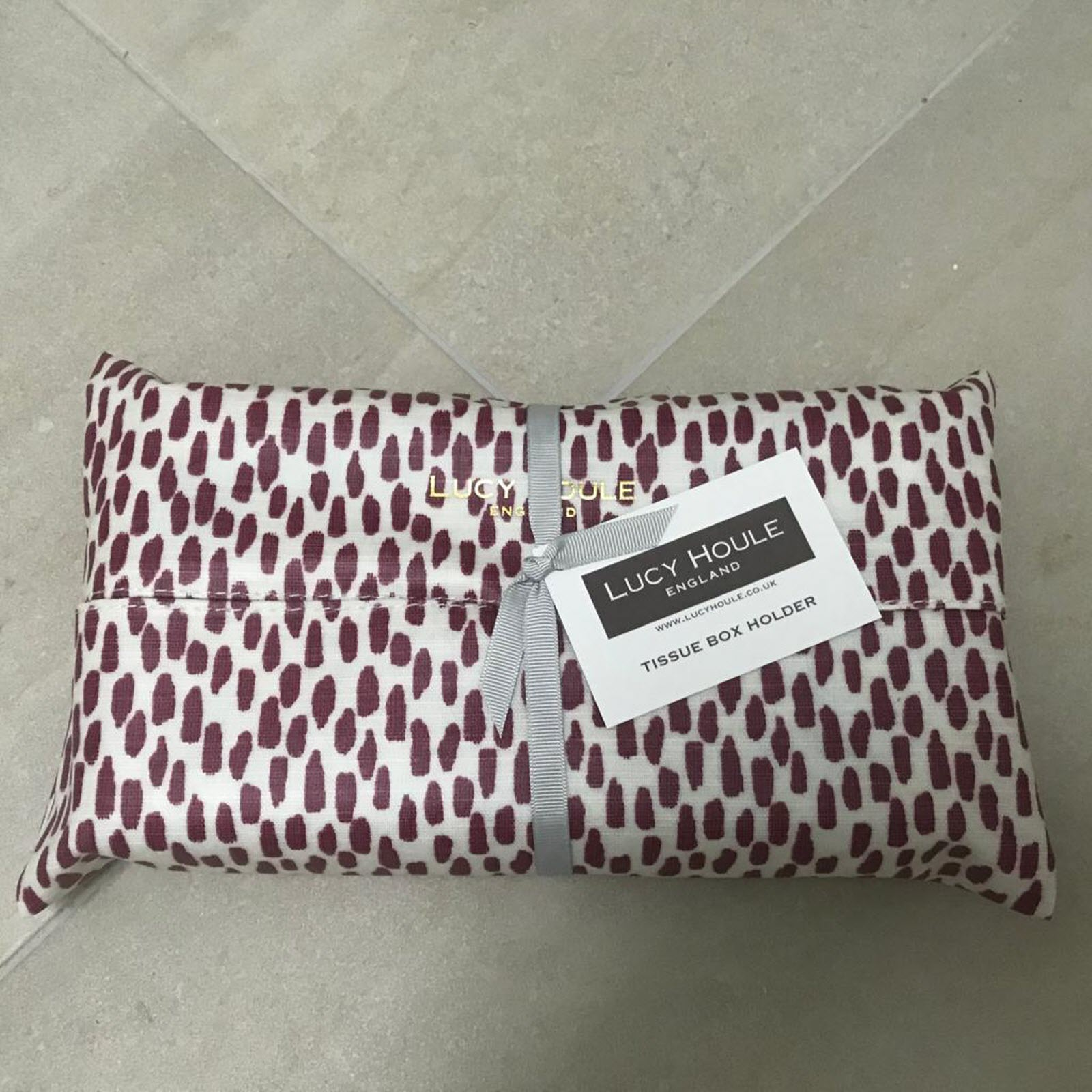 Mulberry Cobblestone Tissue Box Holder
