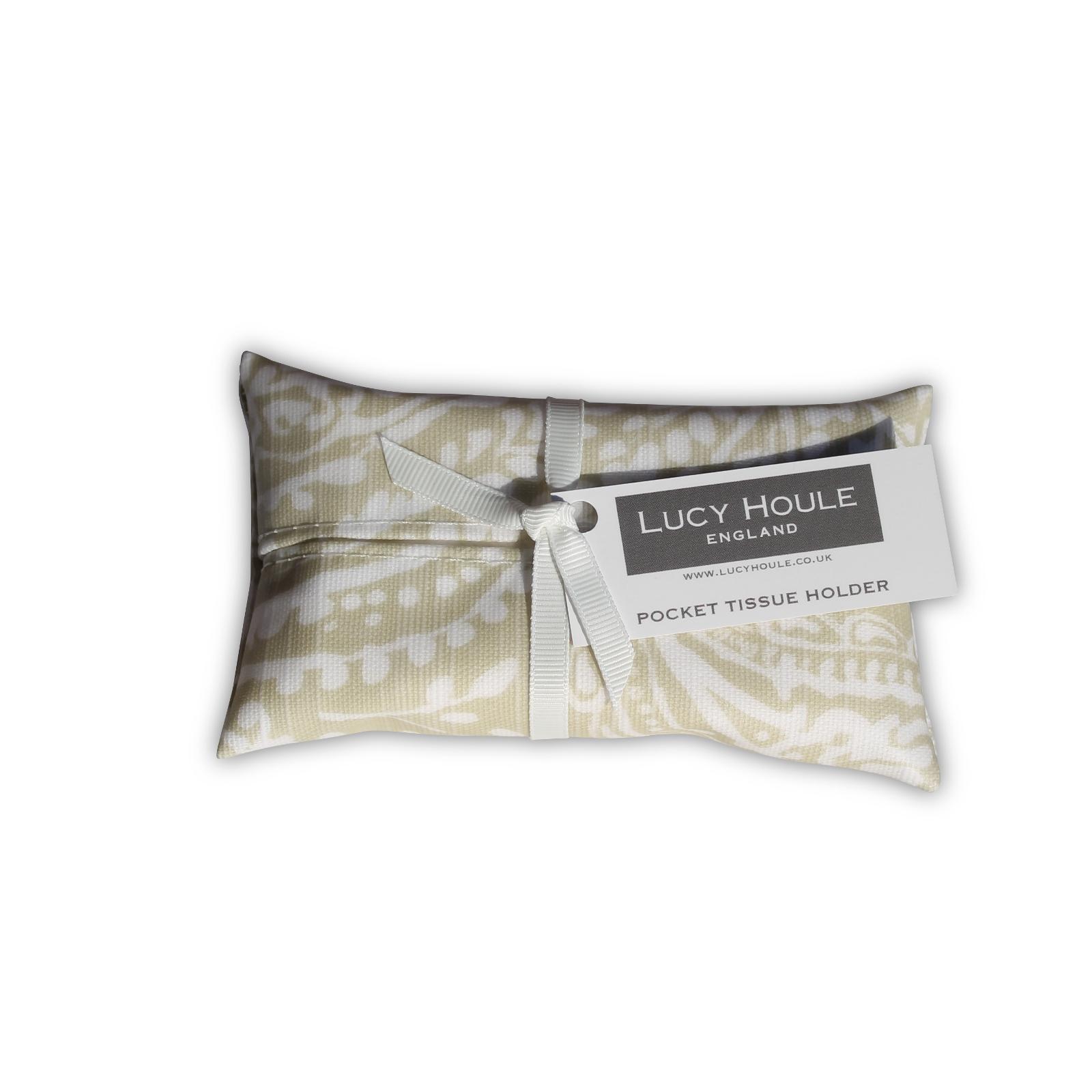 Olive Paisley Pocket Tissue Holder