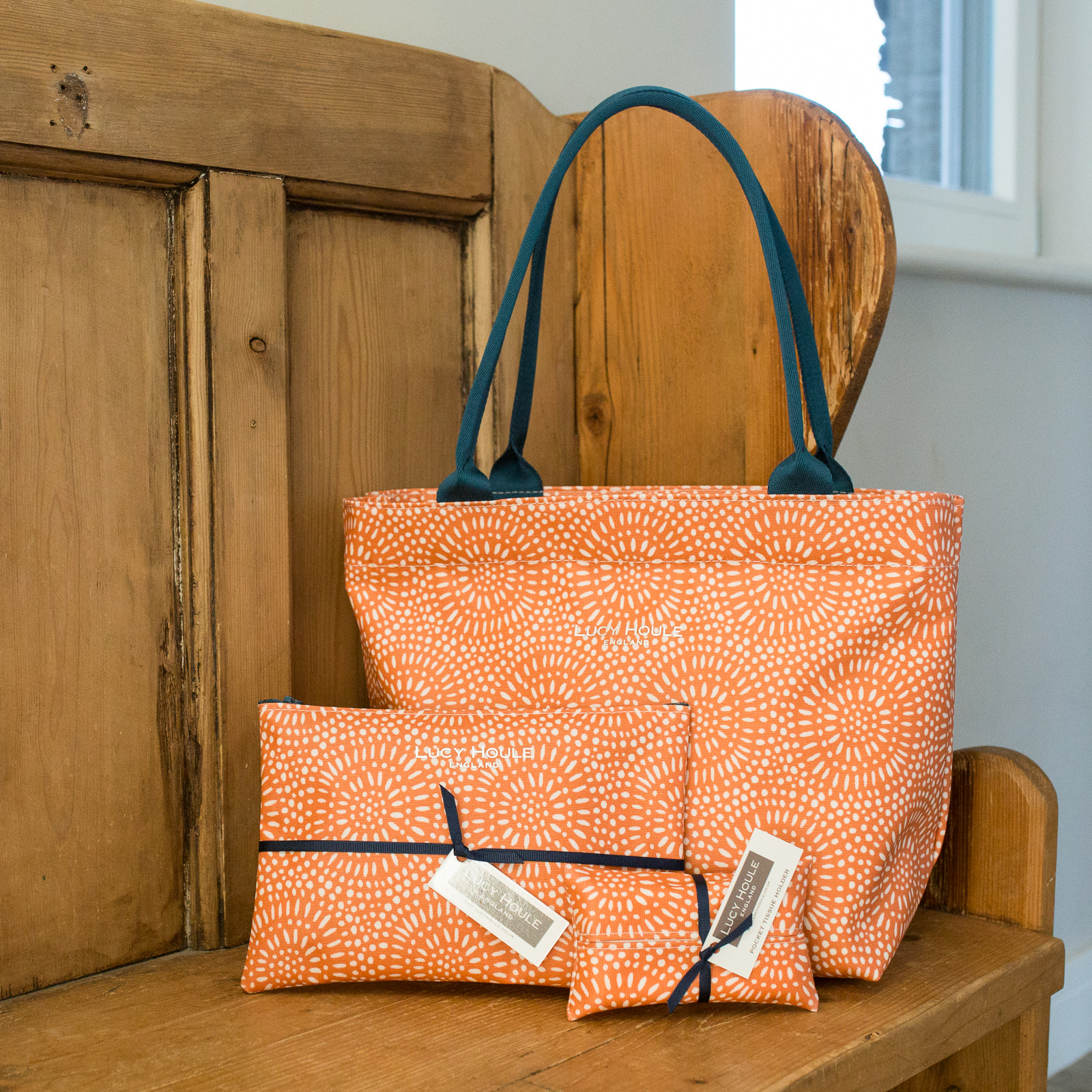 Amber Sunburst Tote Bag Gift Set