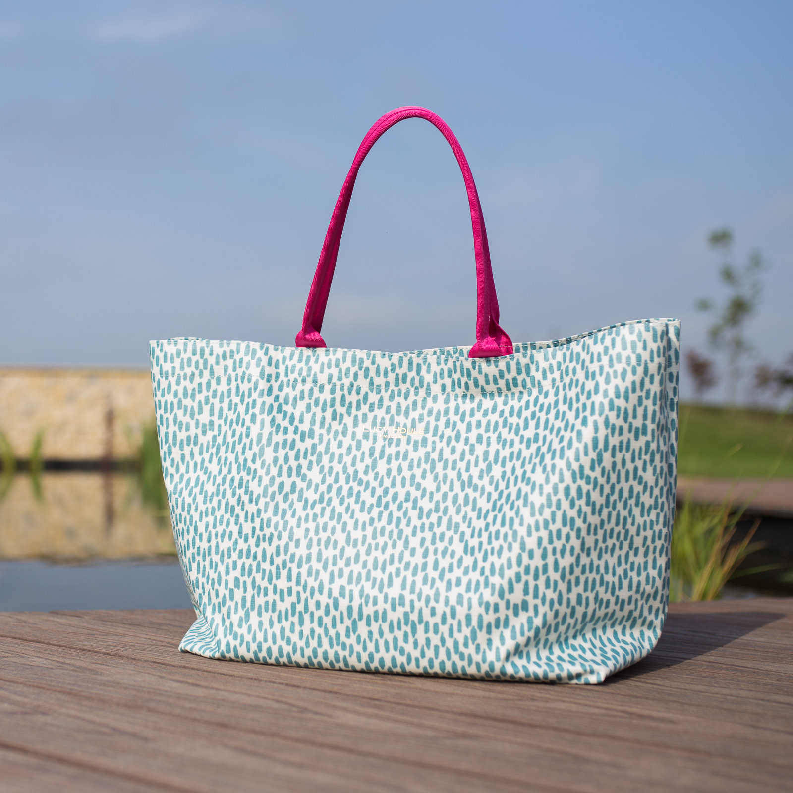 Aqua Cobblestone Extra Large Bag