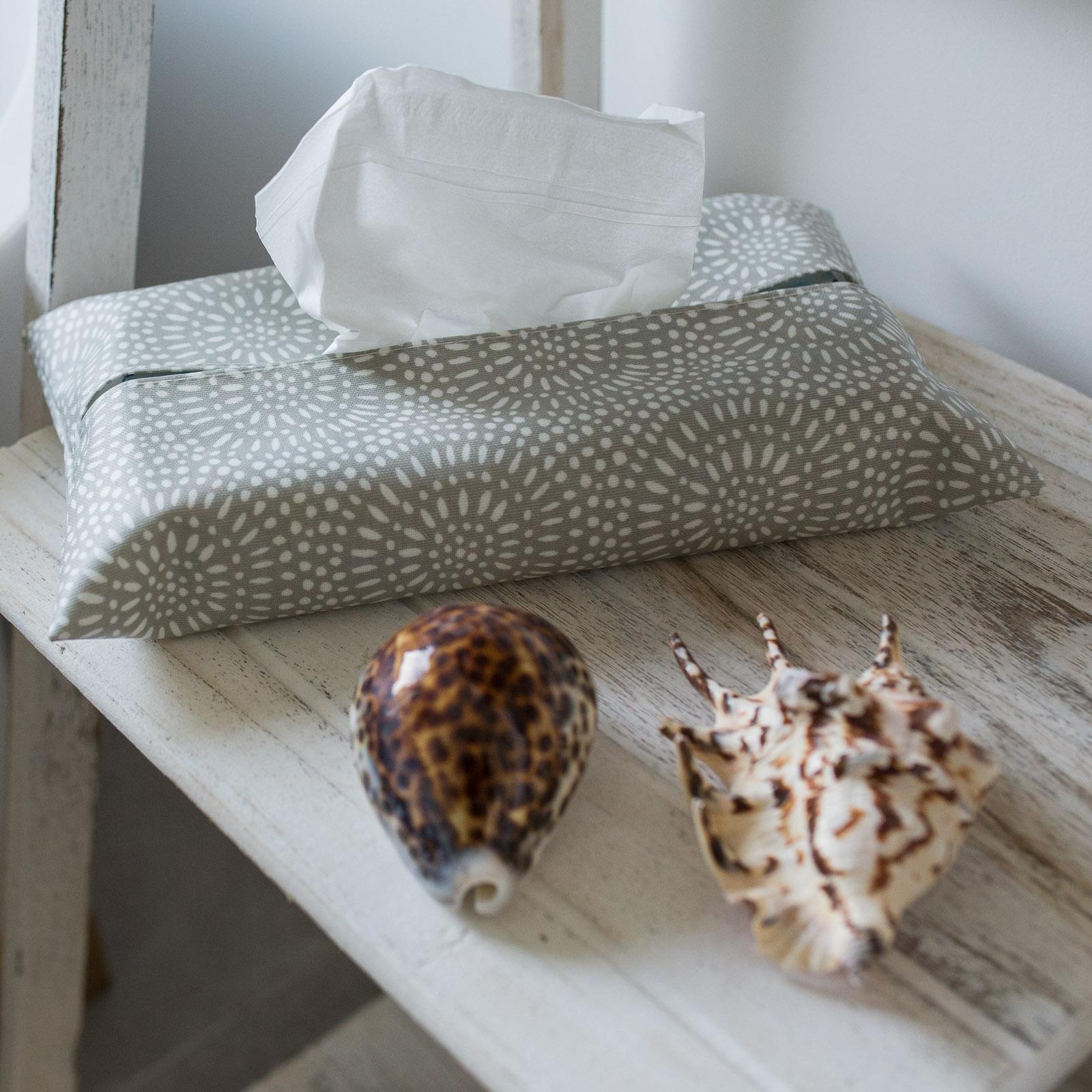 Stone Sunburst Tissue Box Holder