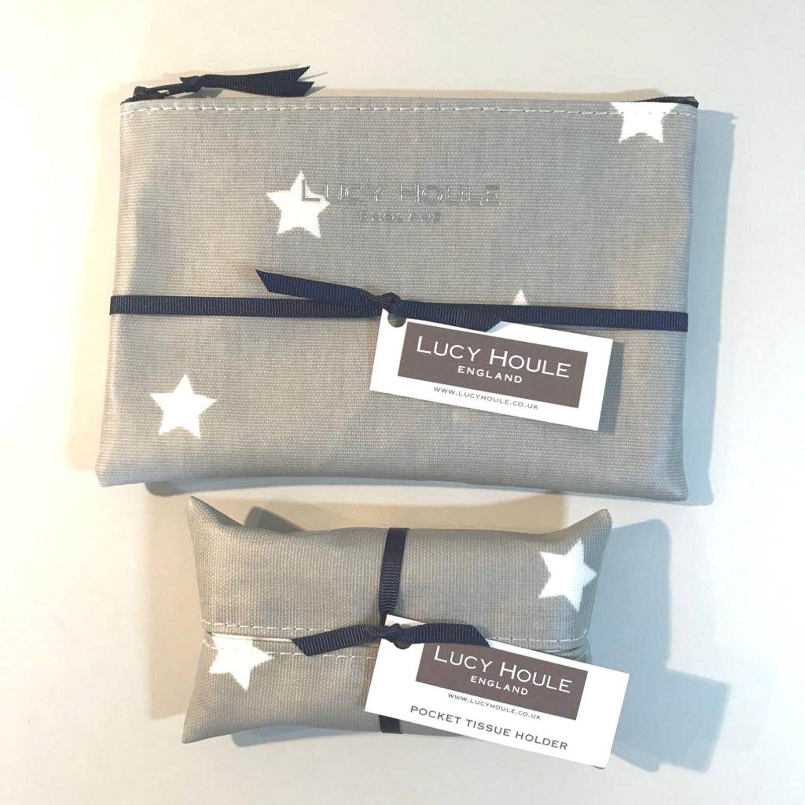 Grey & White Star Handbag Set