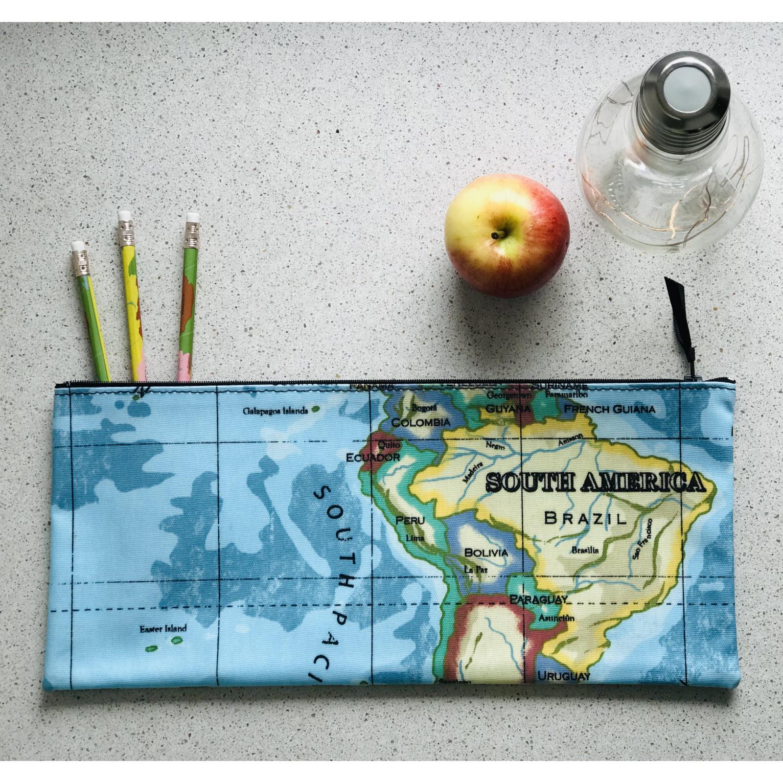 South America Long Pencil Case