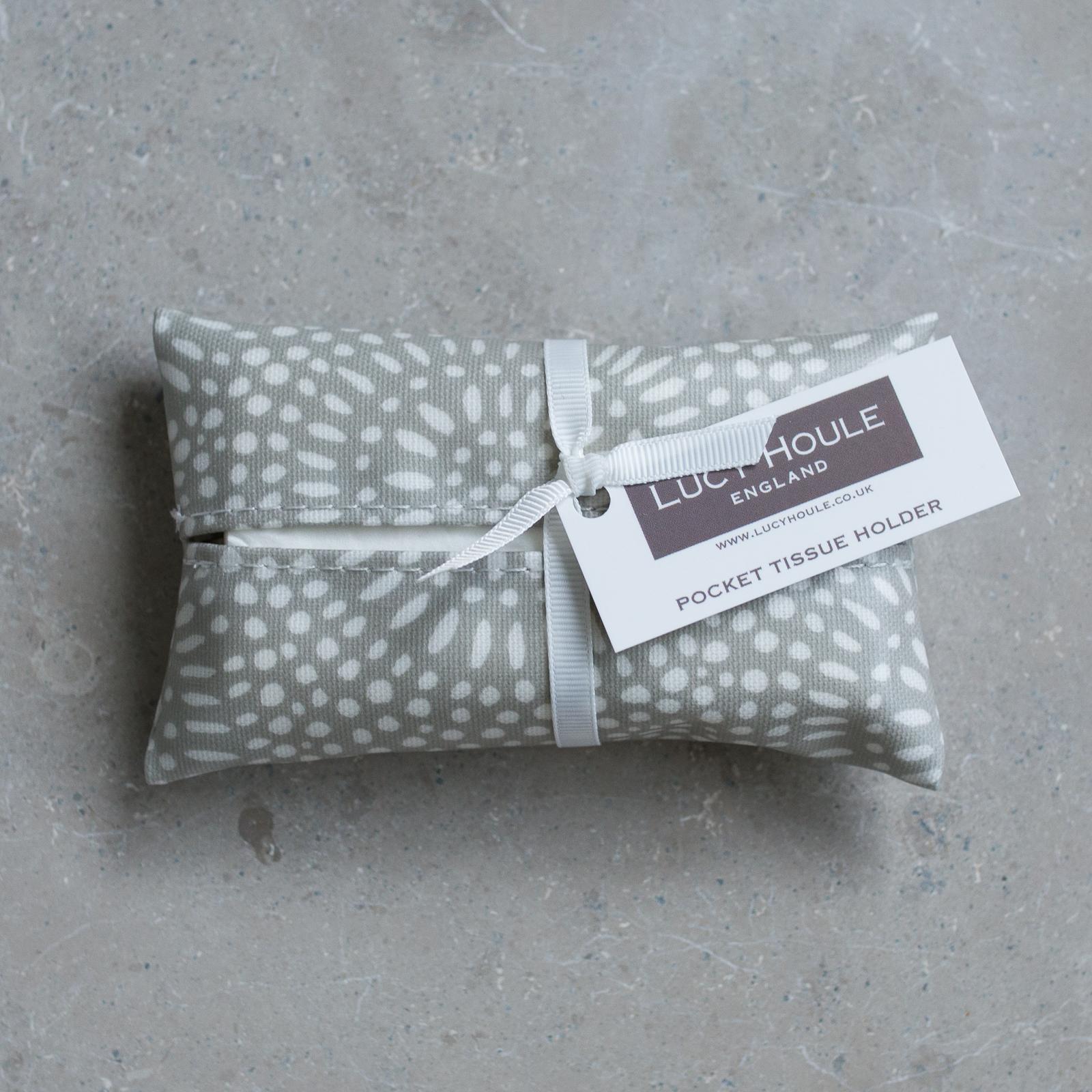 Stone Sunburst Pocket Tissue Holder White
