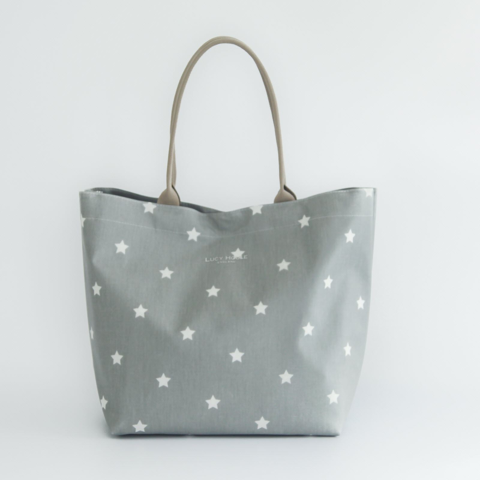 Grey & White Star Large Tote Bag