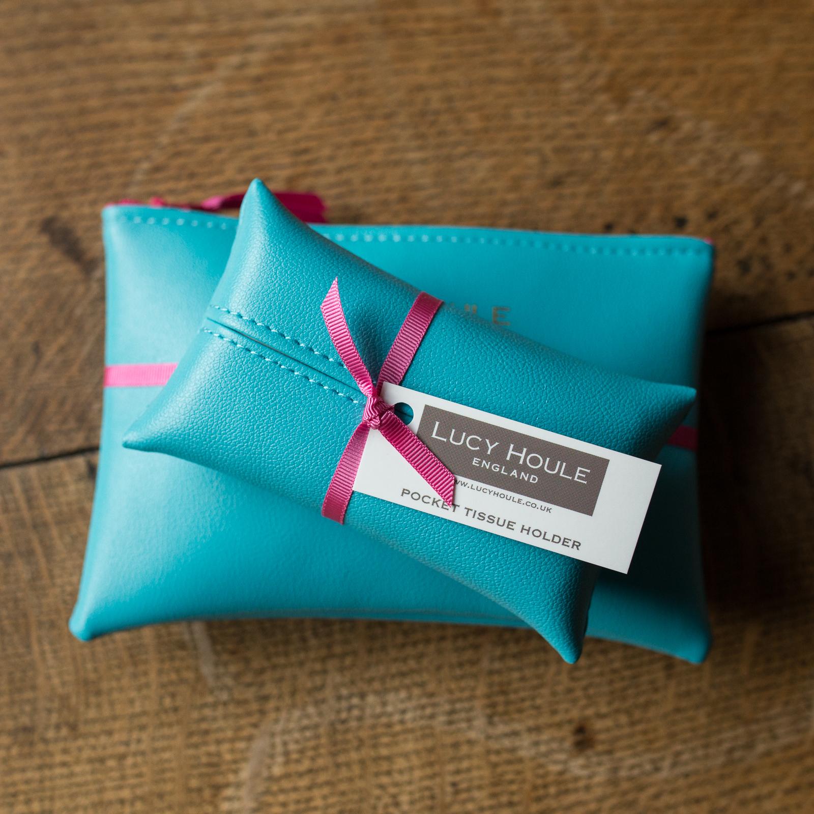 Faux Leather Turquoise Handbag Set