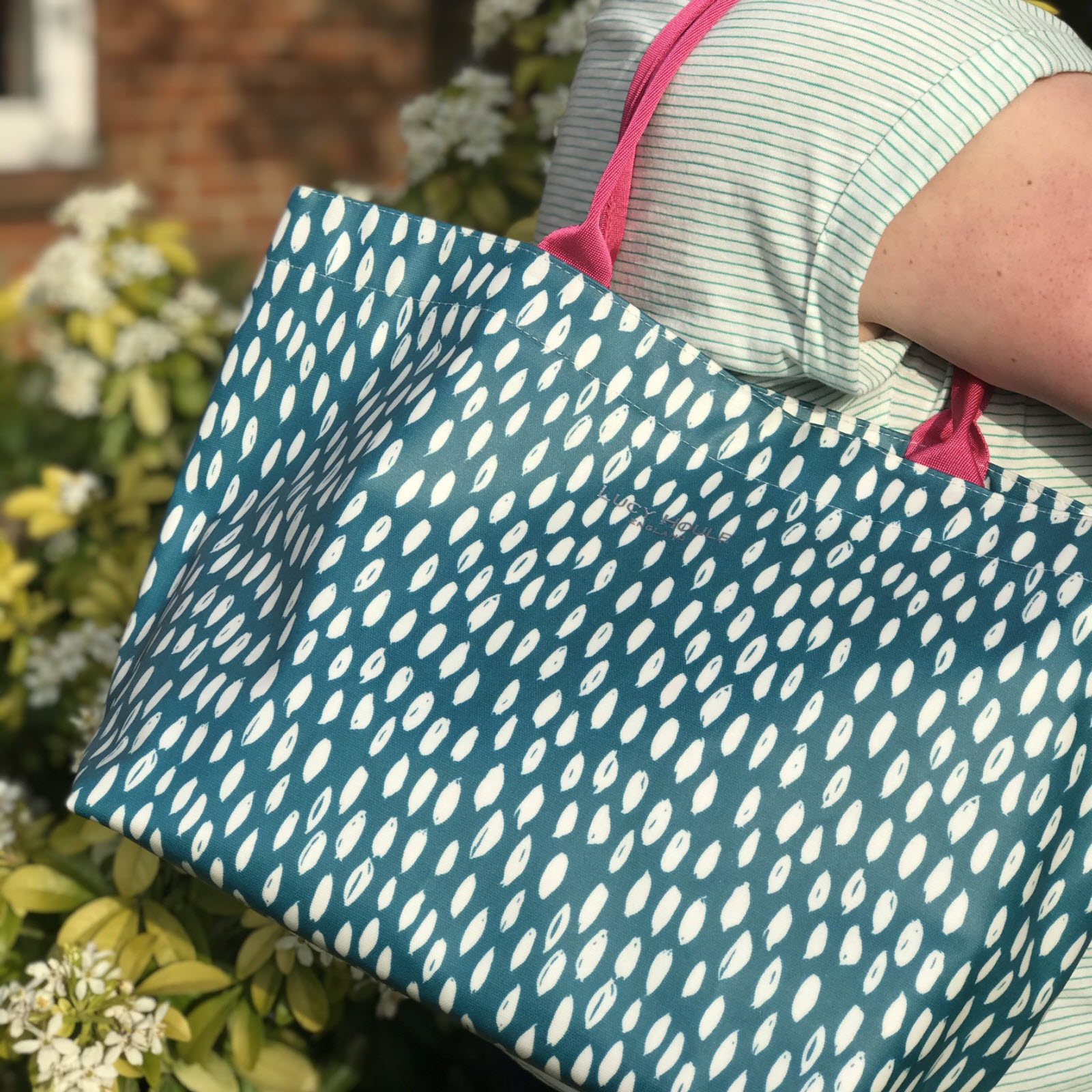Teal Feather Medium Tote Bag 'Limited Edition'