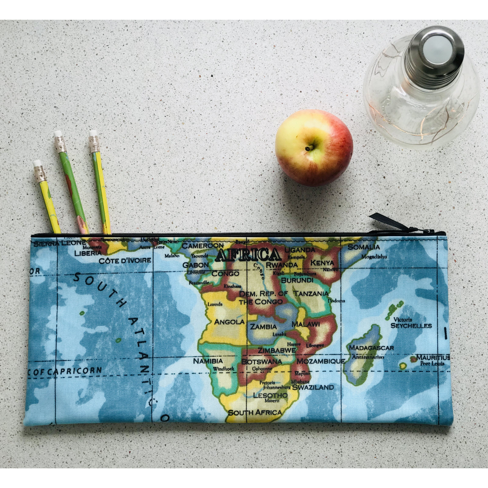 Africa Long Pencil Case