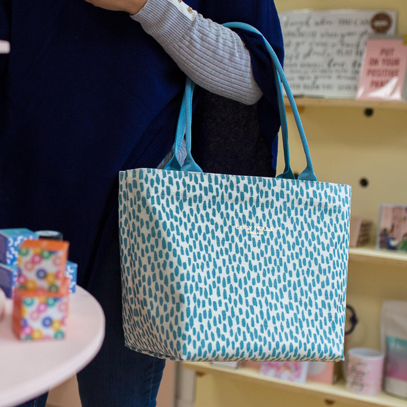 Aqua Cobblestone Small Tote Bag