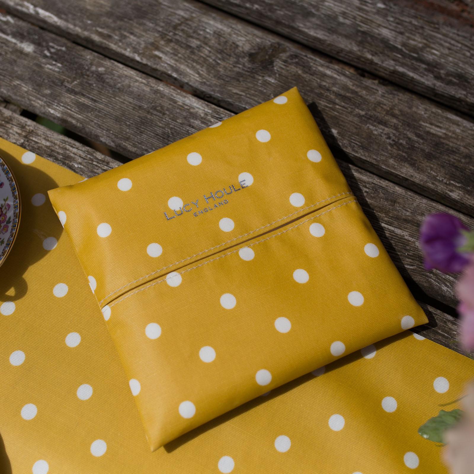 Mustard Spot Paper Napkin Holder