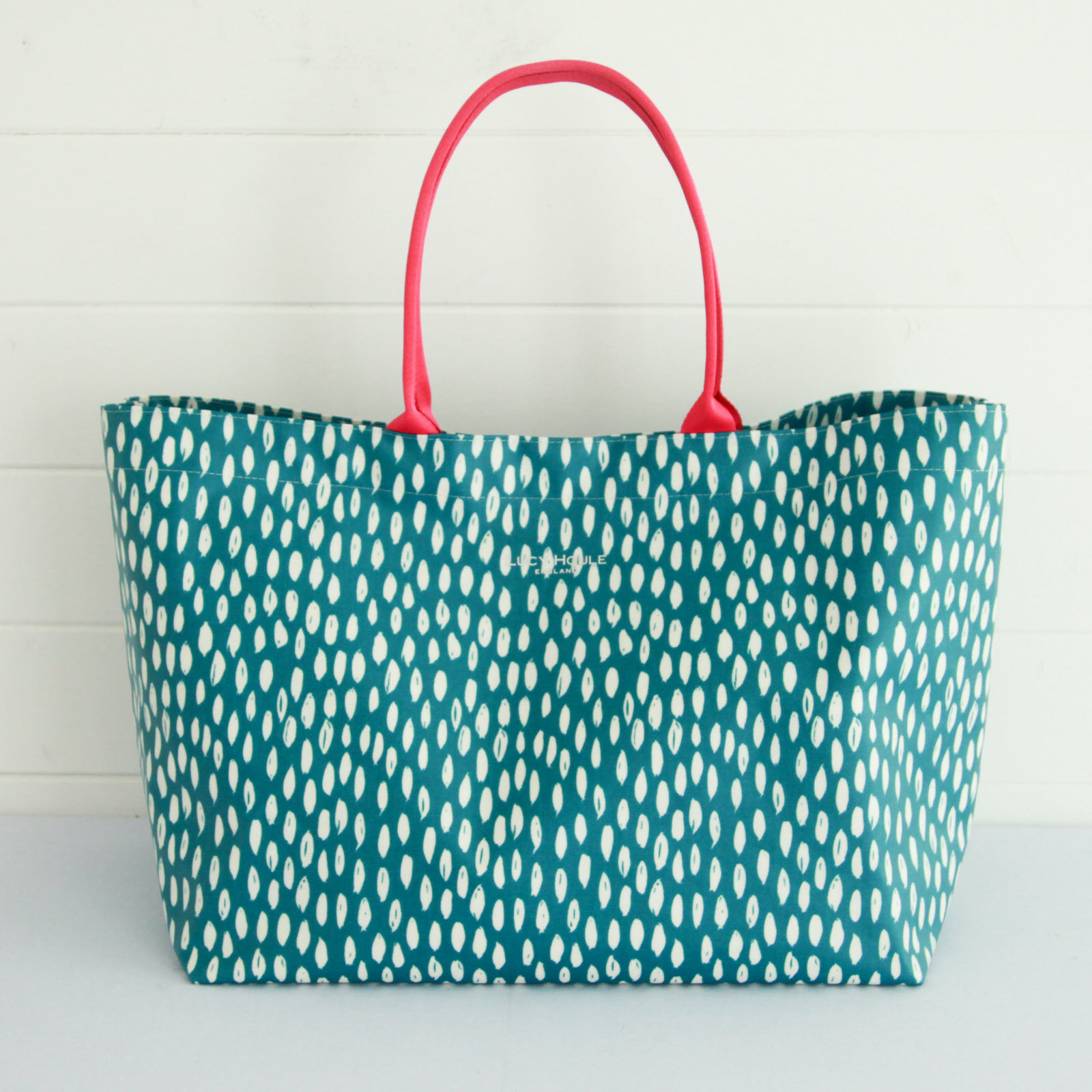Teal Feather Extra Large Bag