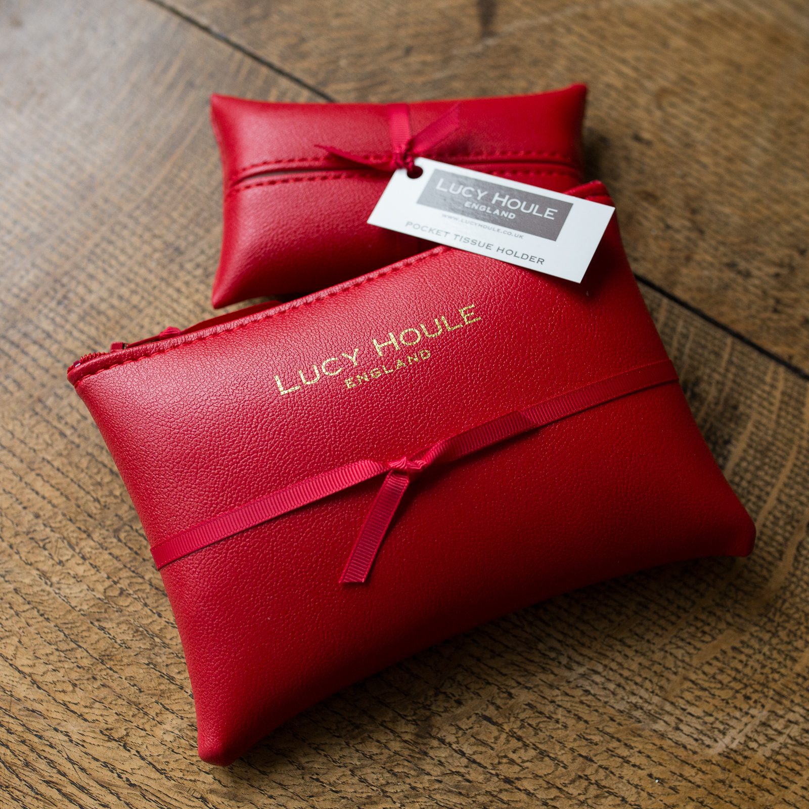 Faux Leather Red Handbag Set