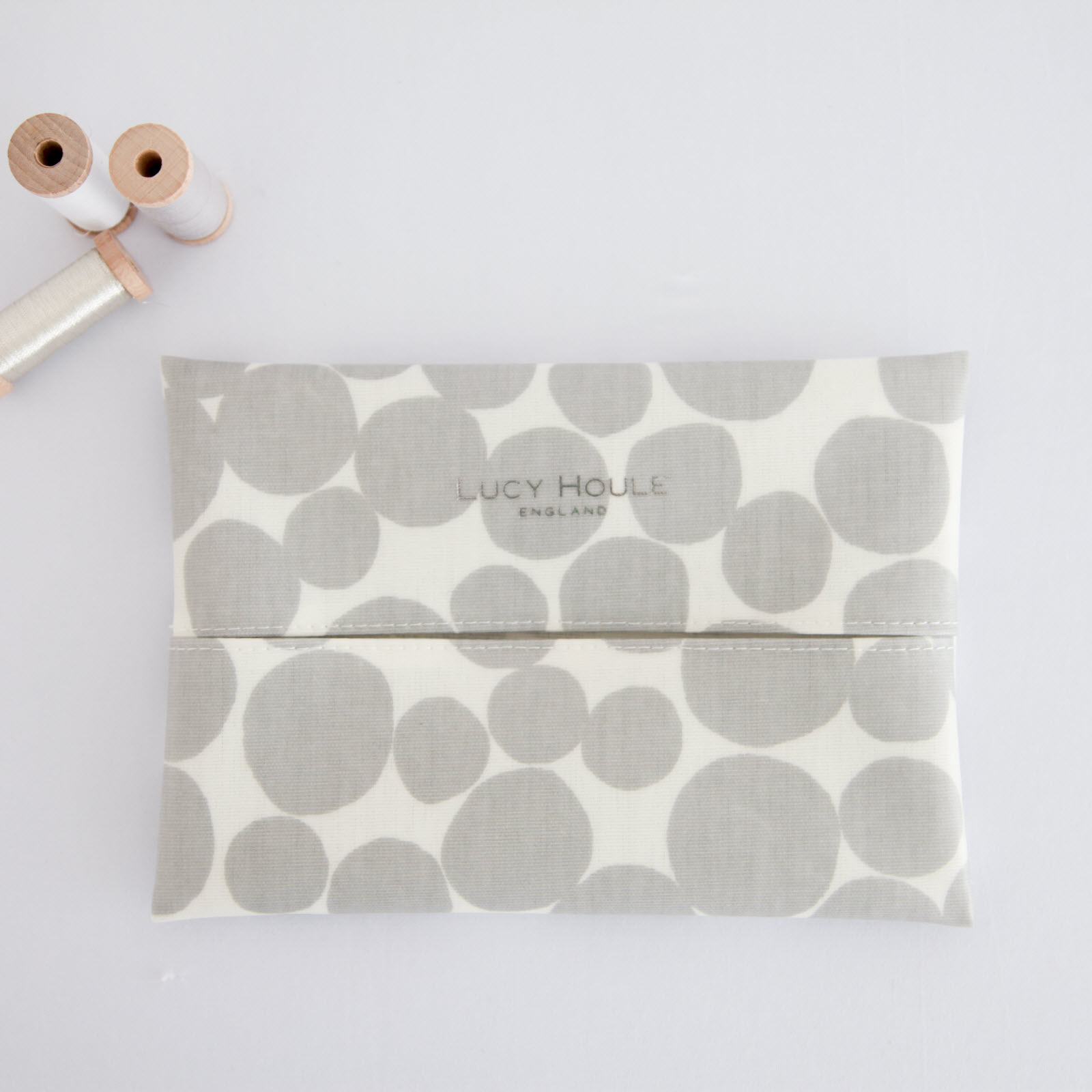 Grey Pebble Baby Wipe Holder