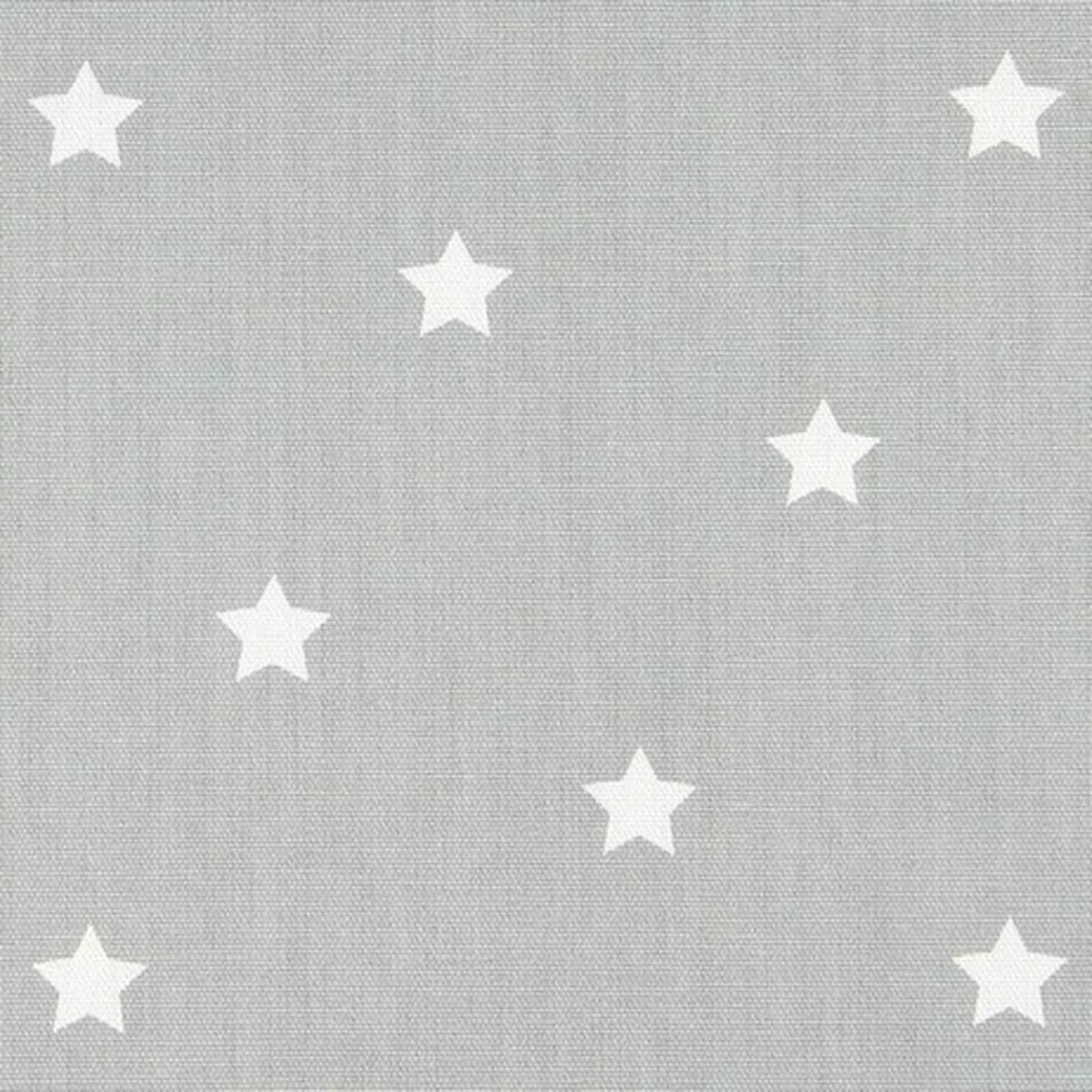 Grey & White Star Oilcloth by the metre