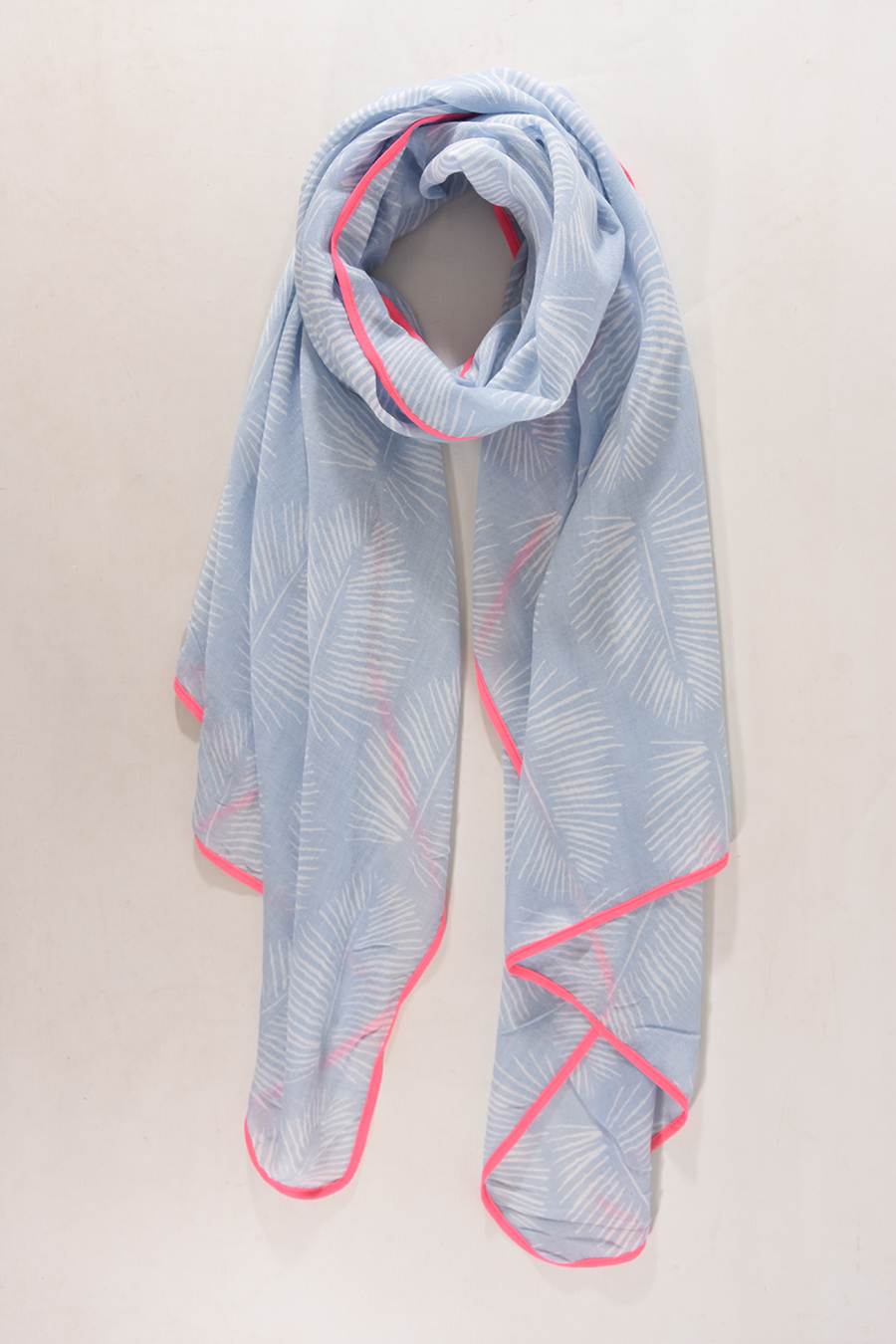 Light Blue Neon Pink Scarf