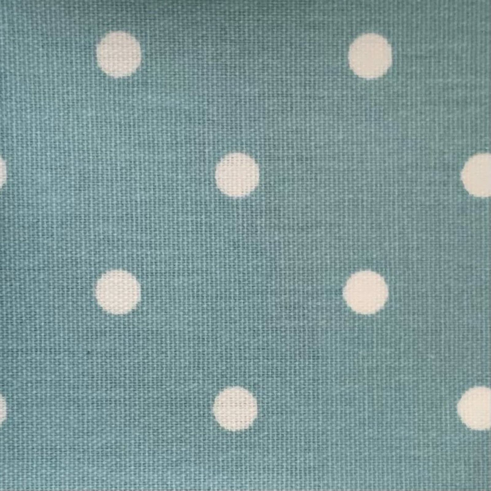 Duck Egg Blue & White Spot Oilcloth by the metre