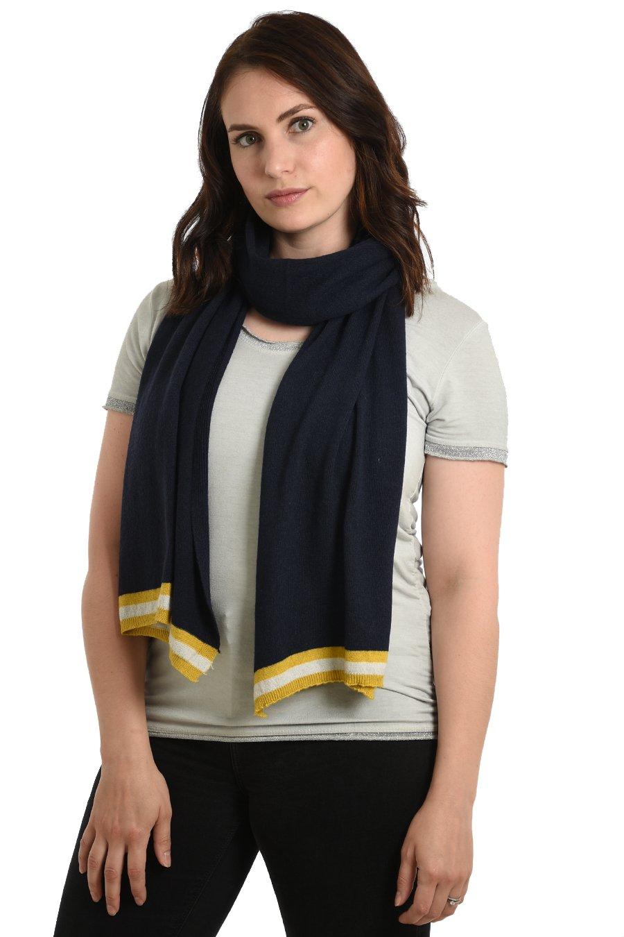 Navy Blue Cashmere blend scarf