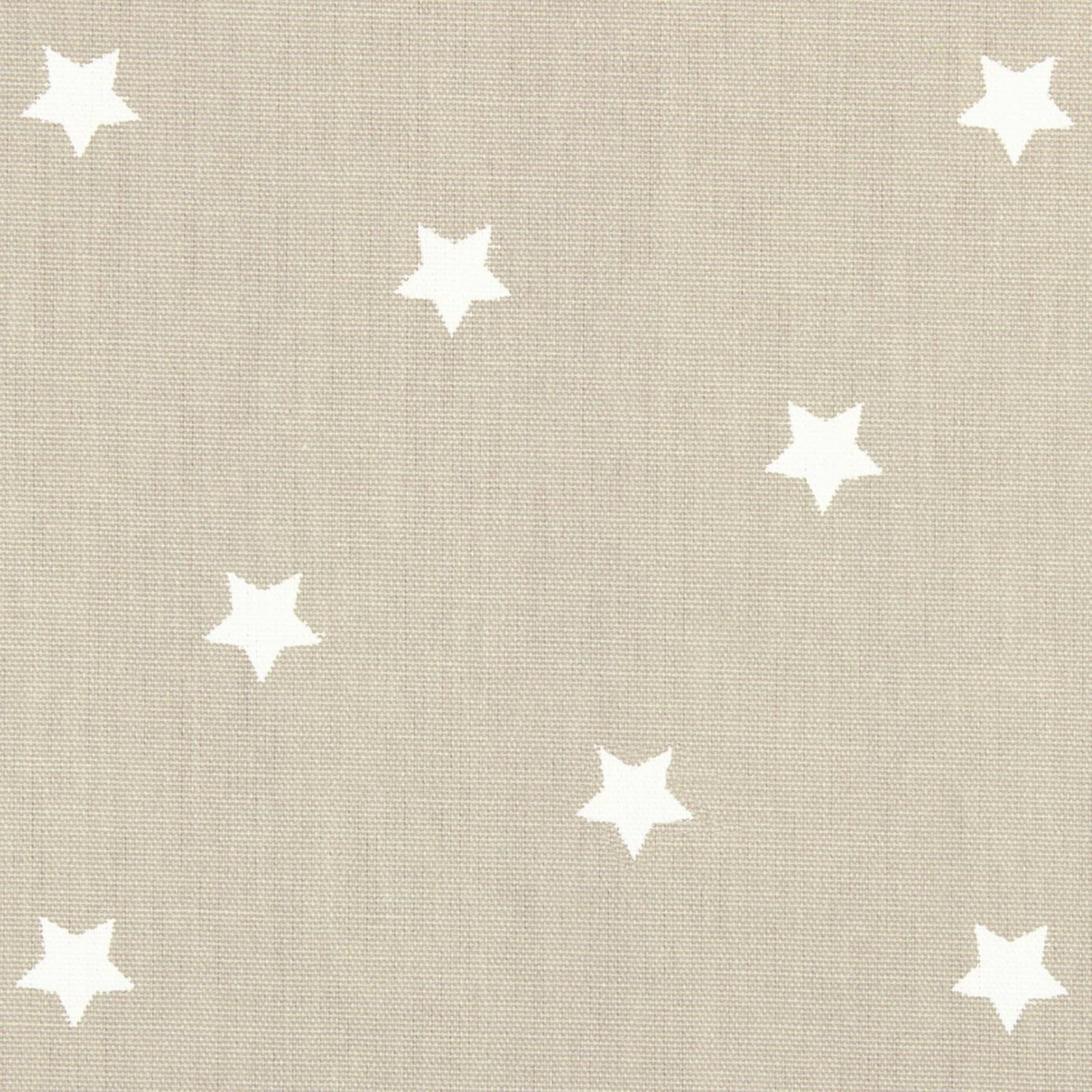 Taupe & White Star (Gloss) Oilcloth by the metre