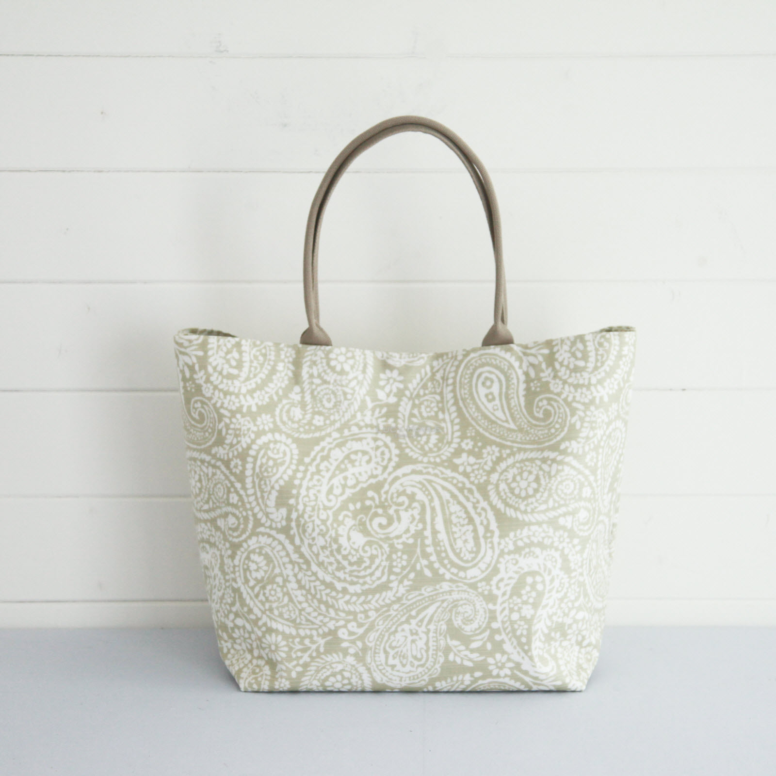 Olive Paisley Large Tote Bag