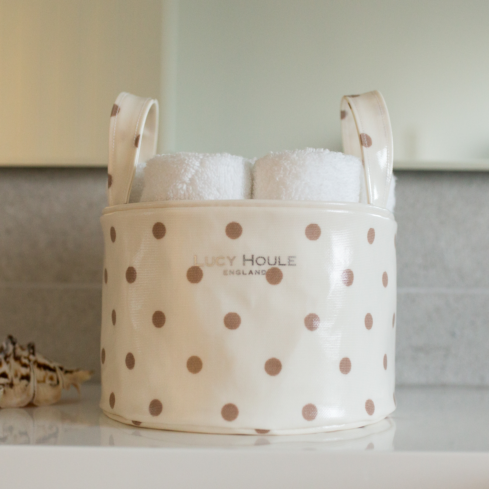 Cream & Taupe Small Tidy