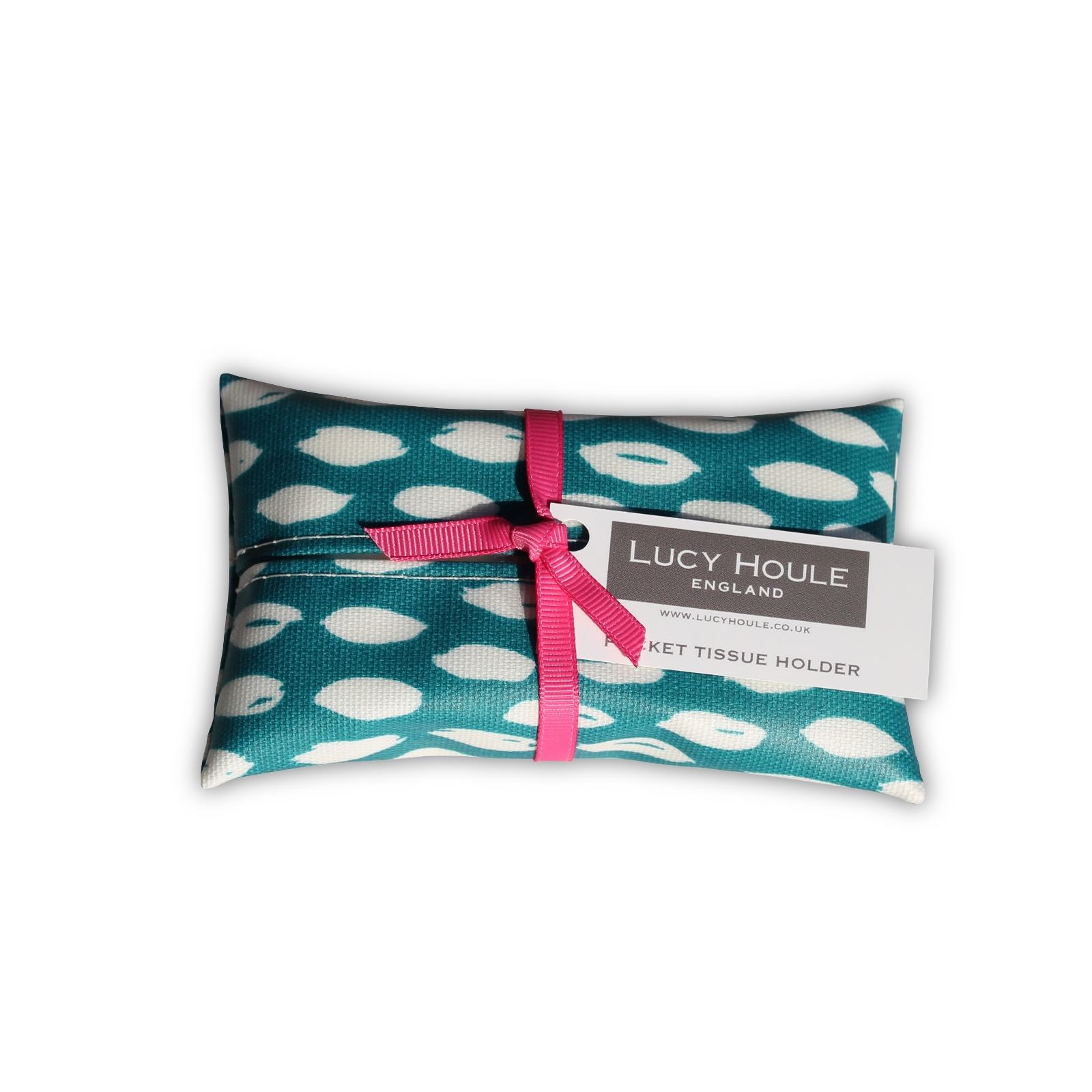 Teal Feather Pocket Tissue Holder 'Limited Edition'