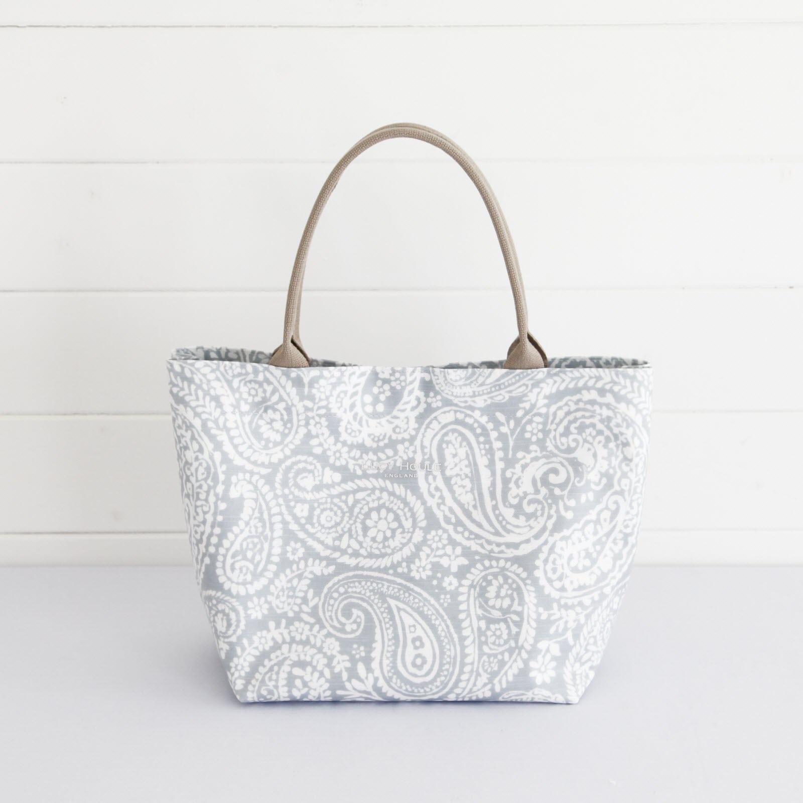 Grey Paisley Small Grab Bag